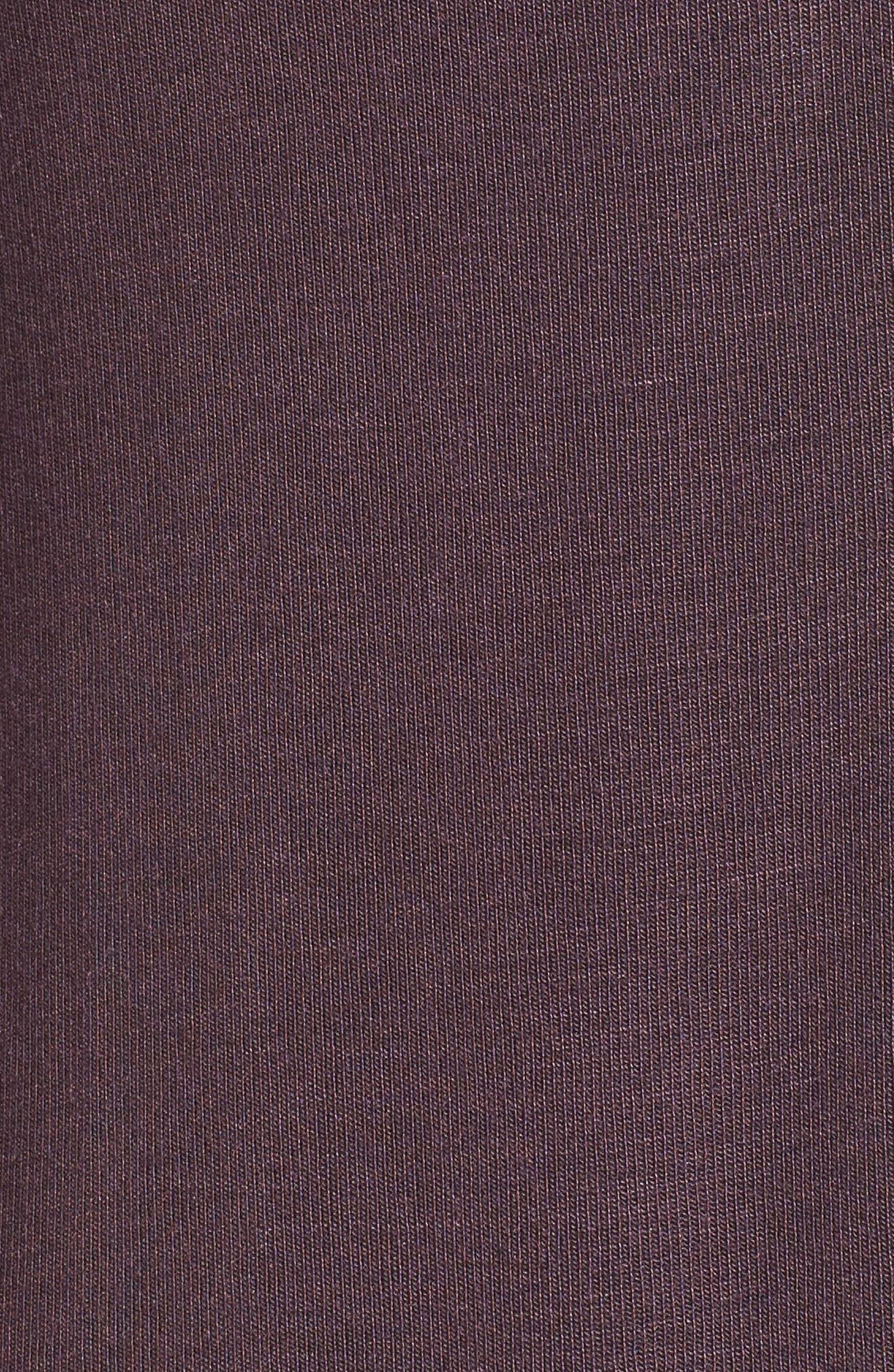 Ruched Sleeve Cardigan,                             Alternate thumbnail 6, color,                             Burgundy Stem