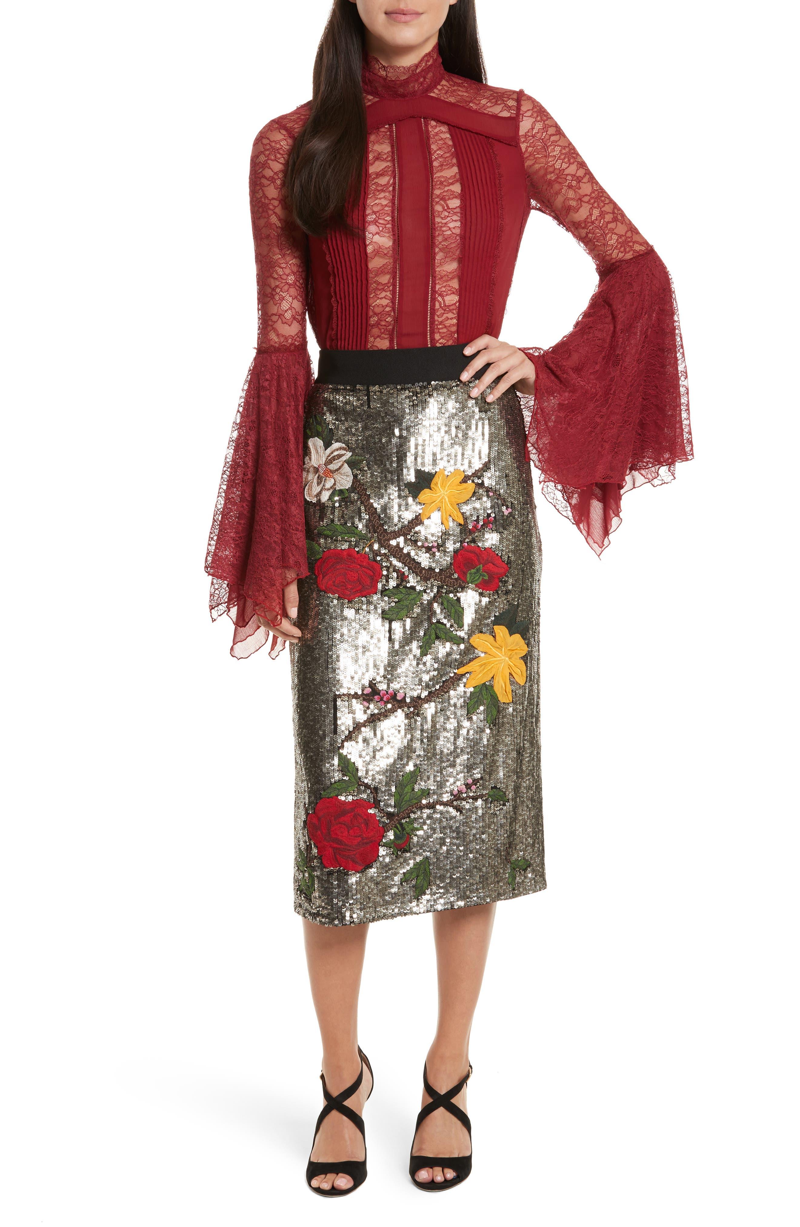 Alternate Image 2  - Alice + Olivia Ella Embellished Midi Skirt