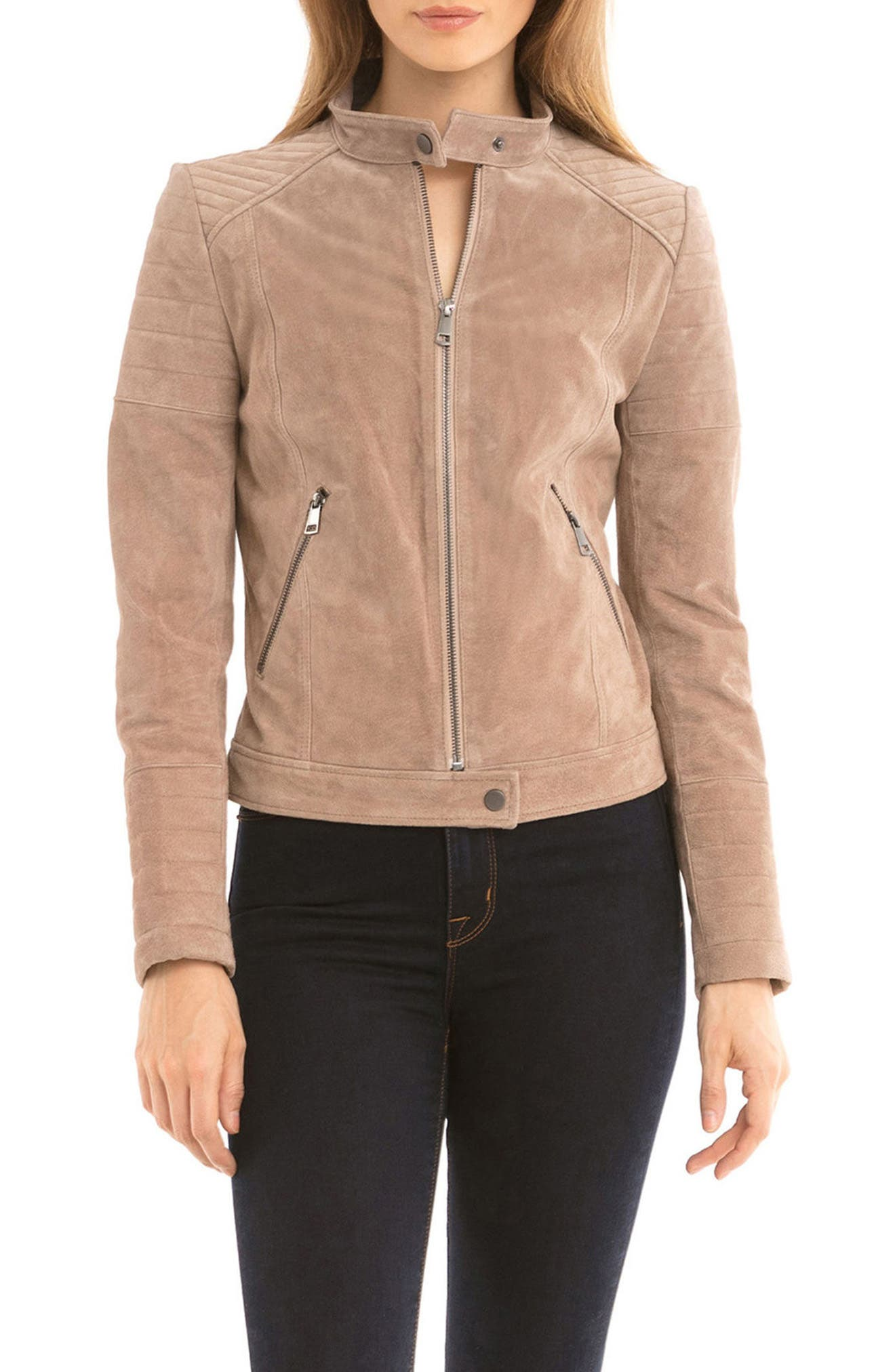 Alternate Image 3  - Bagatelle Suede Moto Jacket