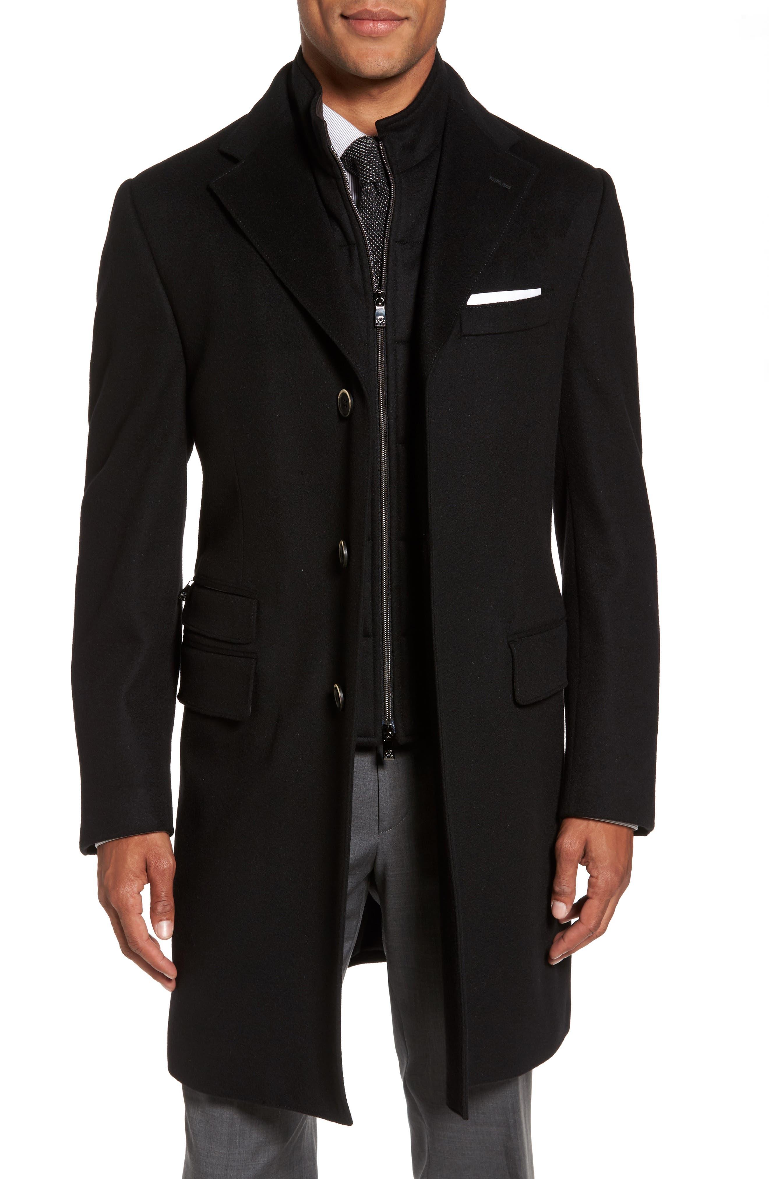 Classic Fit Wool Overcoat,                         Main,                         color, Black