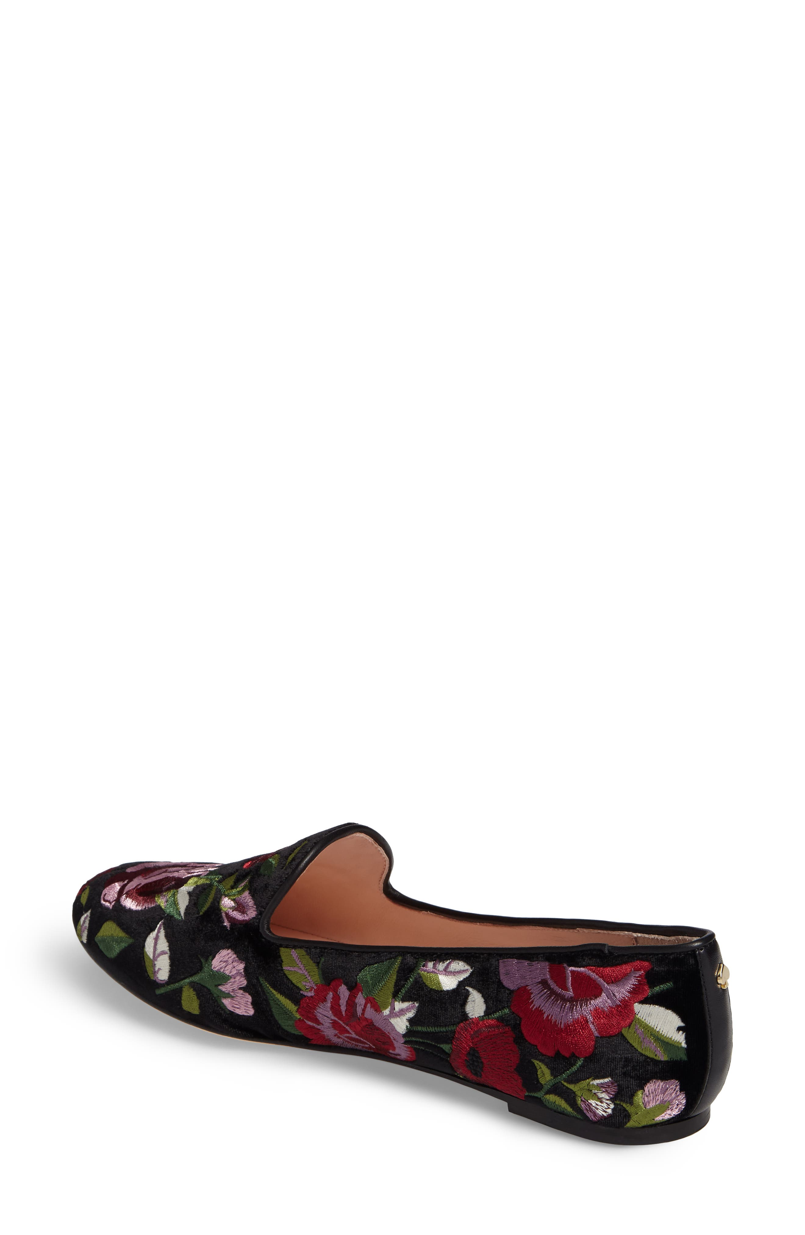 Alternate Image 2  - kate spade new york swinton embroidered loafer (Women)