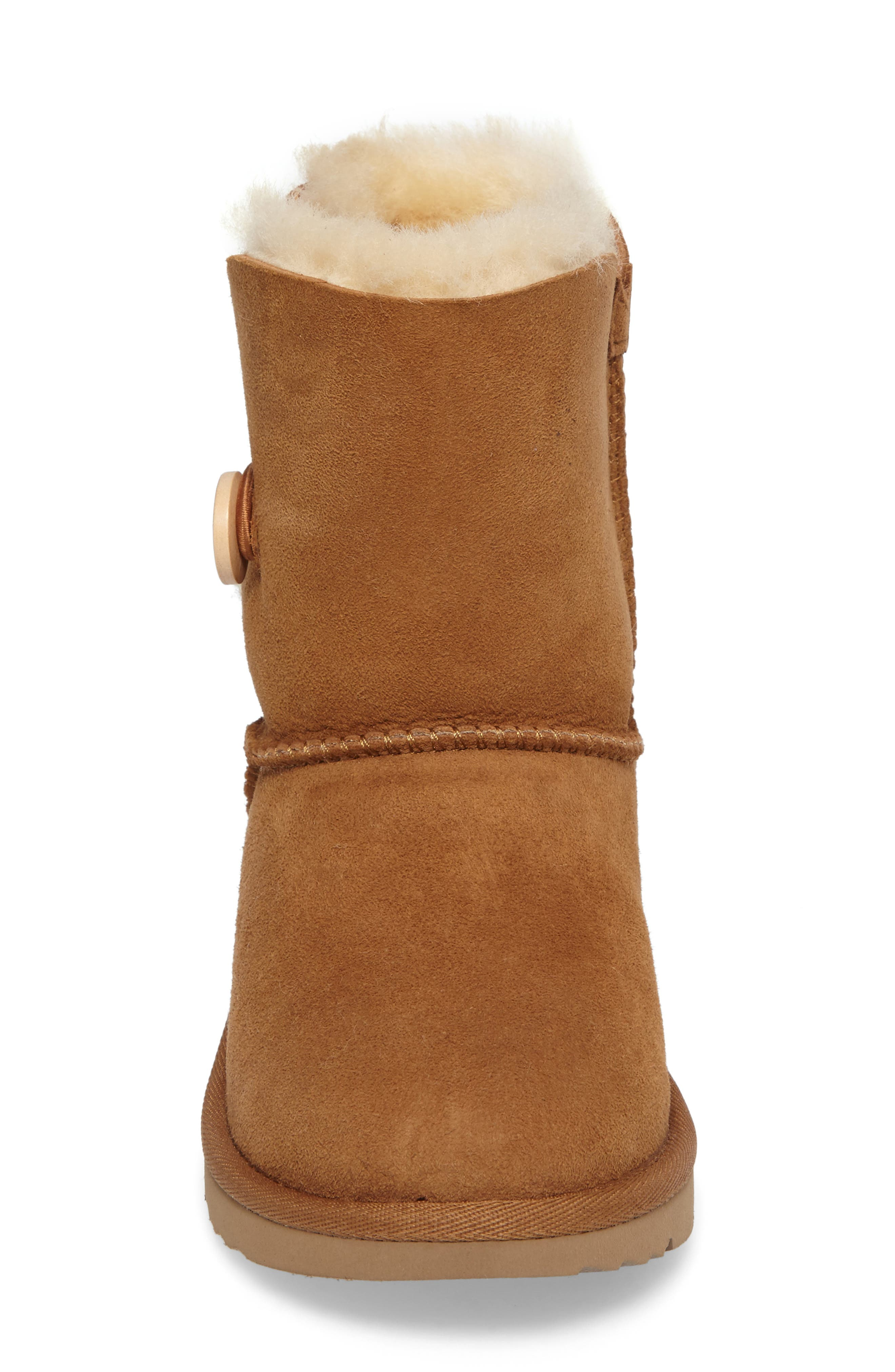 Alternate Image 4  - UGG® Bailey Button II Water Resistant Genuine Shearling Boot (Walker, Toddler, Little Kid & Big Kid)