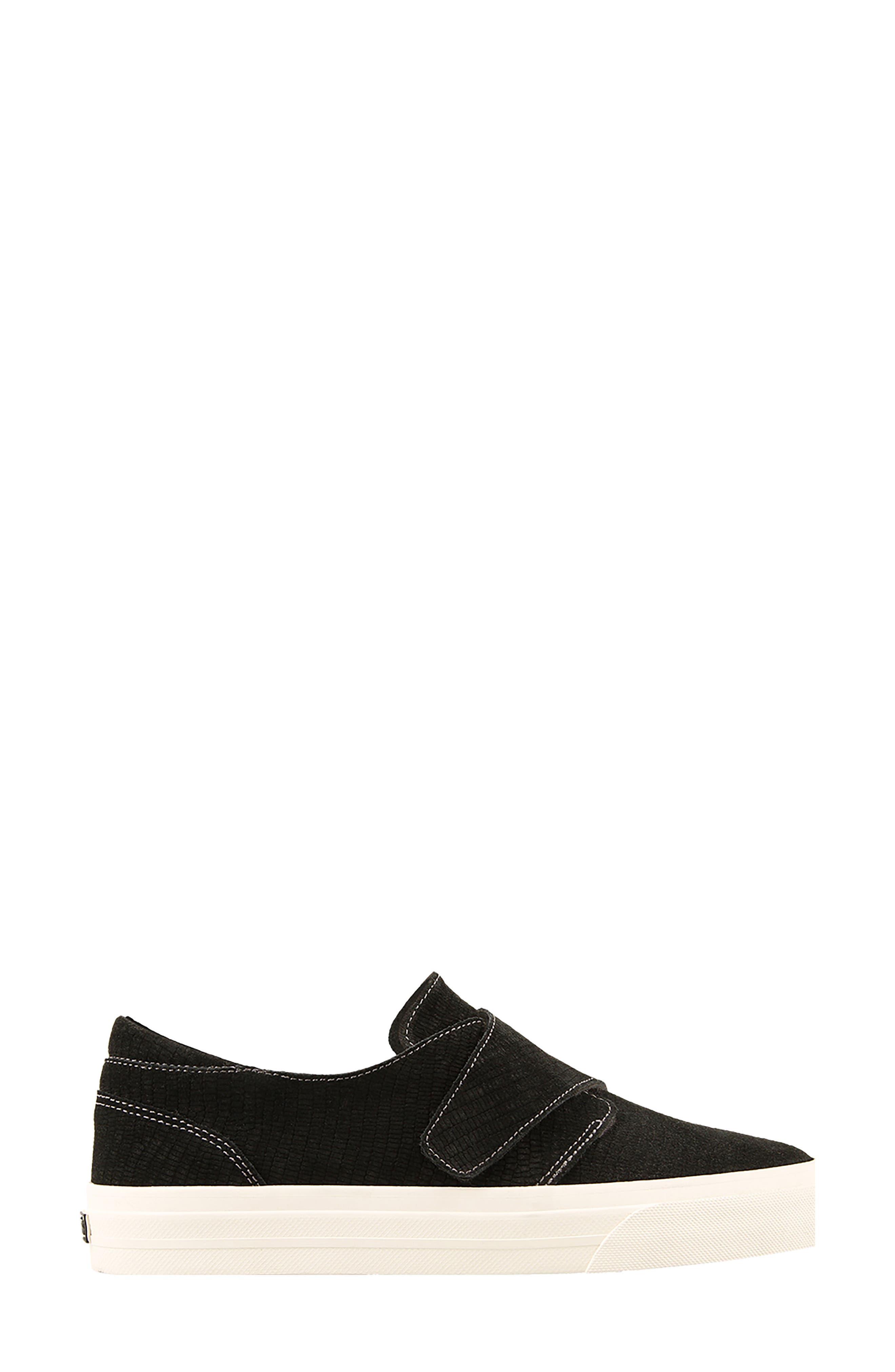 Soul Sneaker,                             Alternate thumbnail 3, color,                             Black Emboss Suede