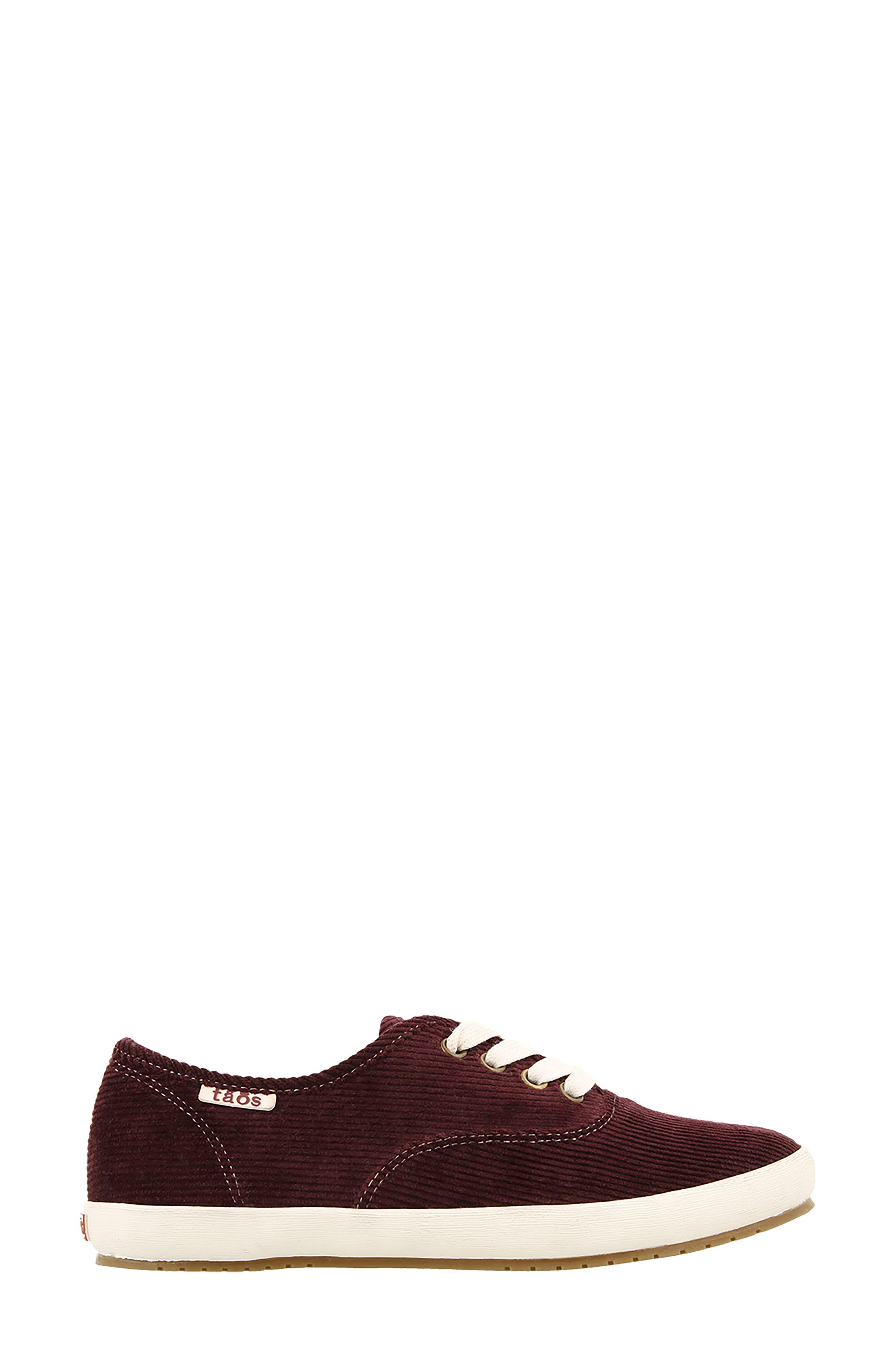Guest Star Sneaker,                             Alternate thumbnail 3, color,                             Bordeaux Cord Fabric