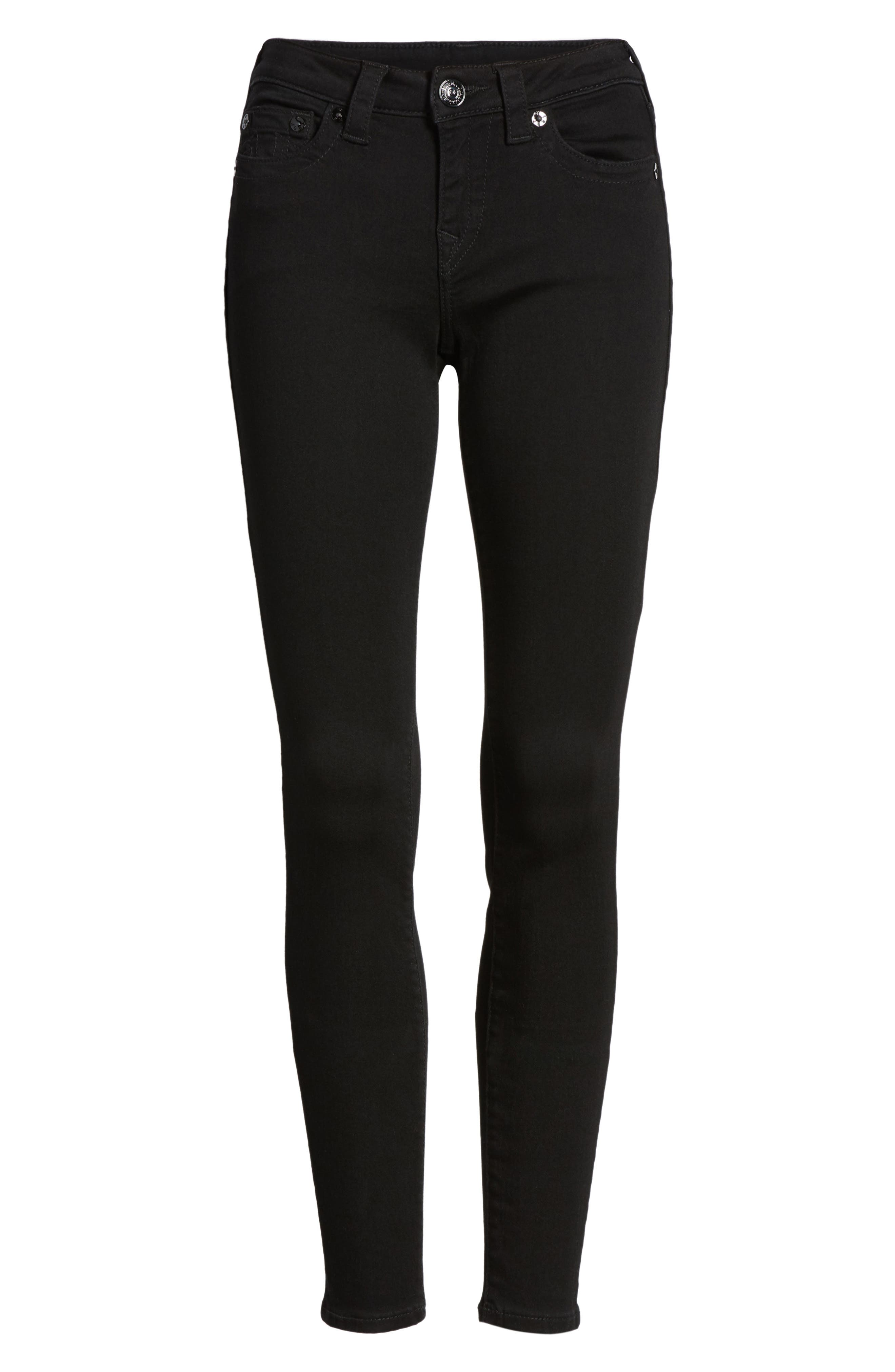 Halle Super Skinny Jeans,                             Alternate thumbnail 6, color,                             Way Back Black