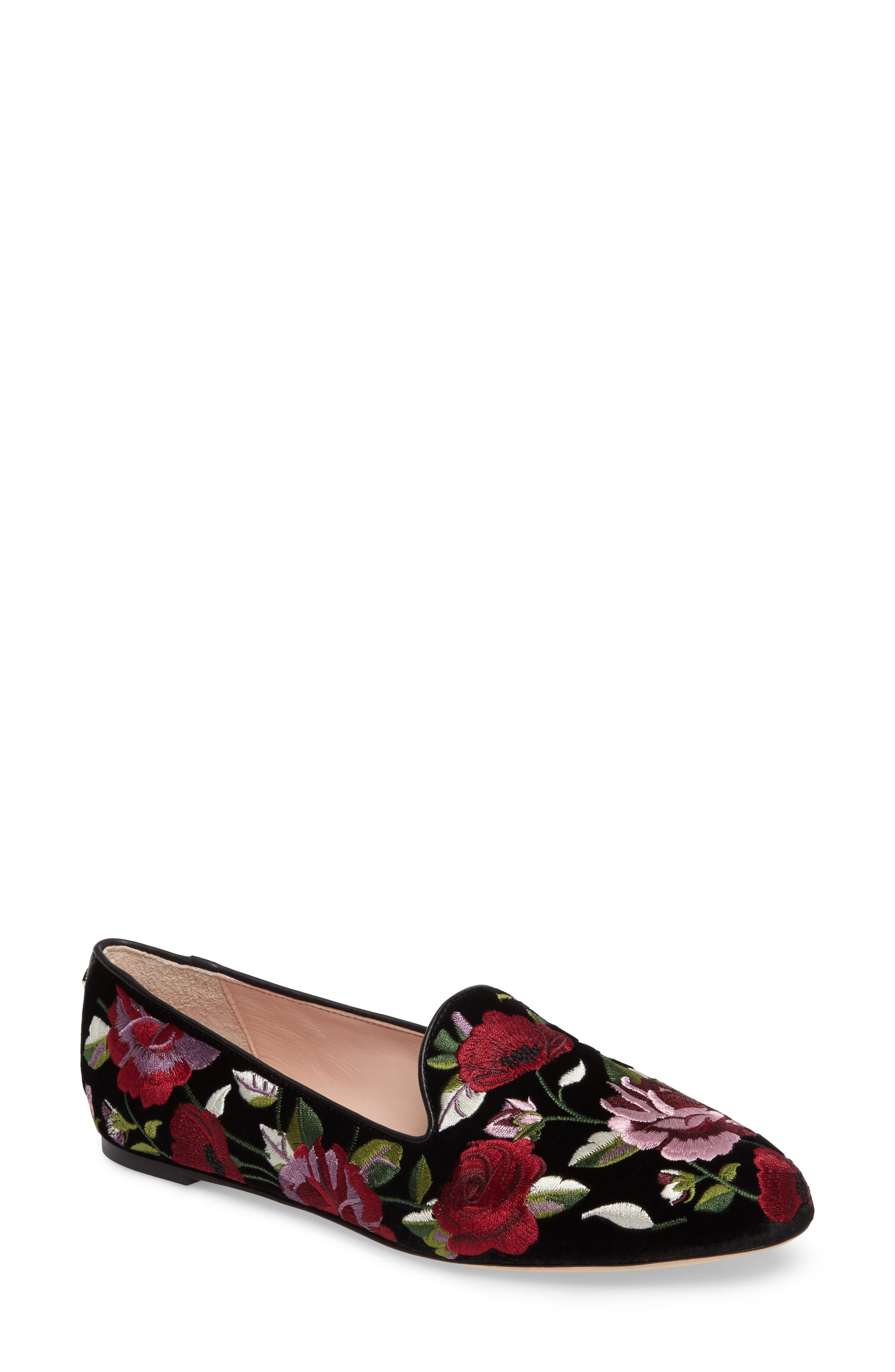 Alternate Image 1 Selected - kate spade new york swinton embroidered loafer (Women)
