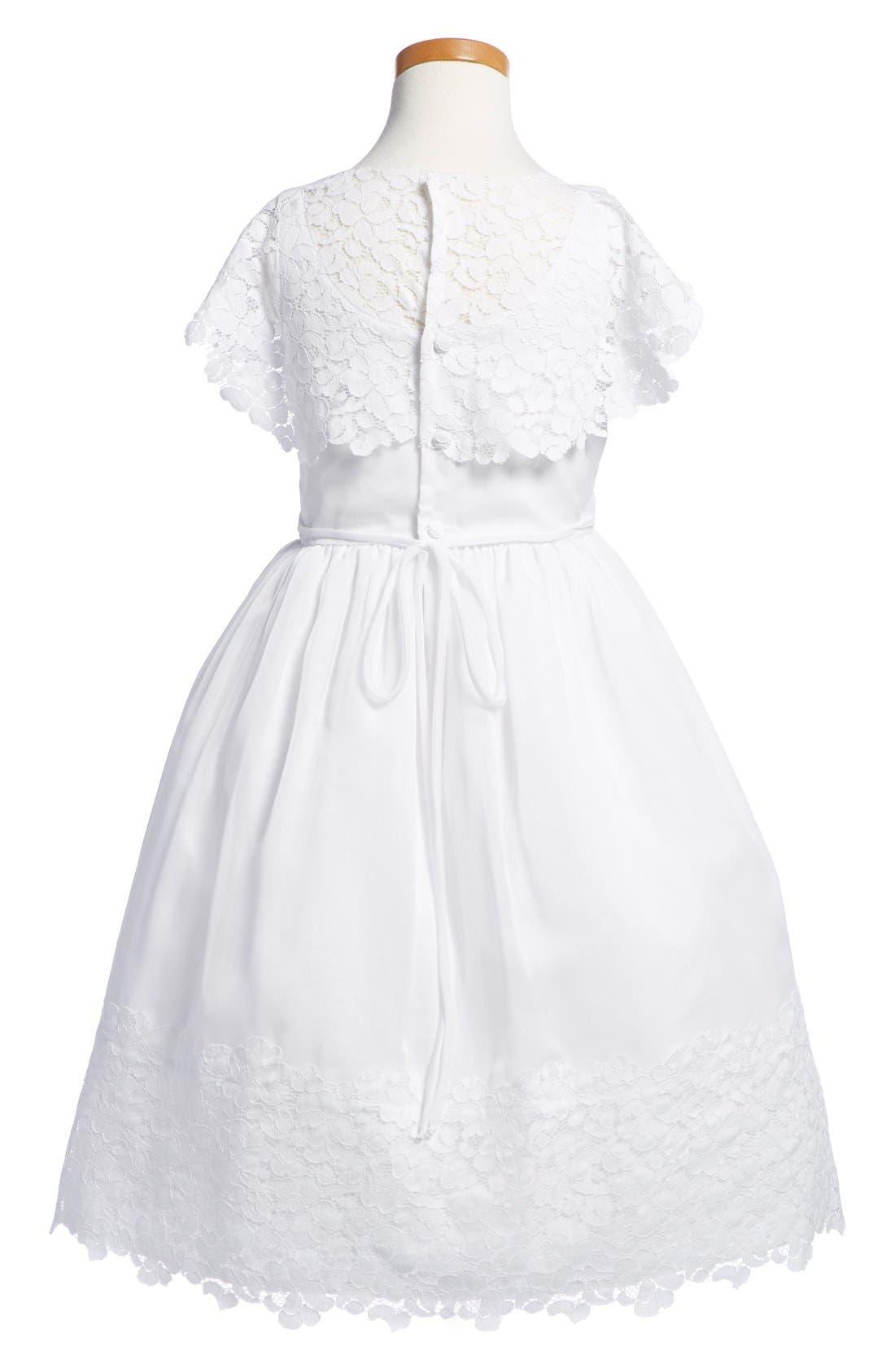 Alternate Image 2  - Isabel Garreton Floral Lace Dress (Little Girls & Big Girls)