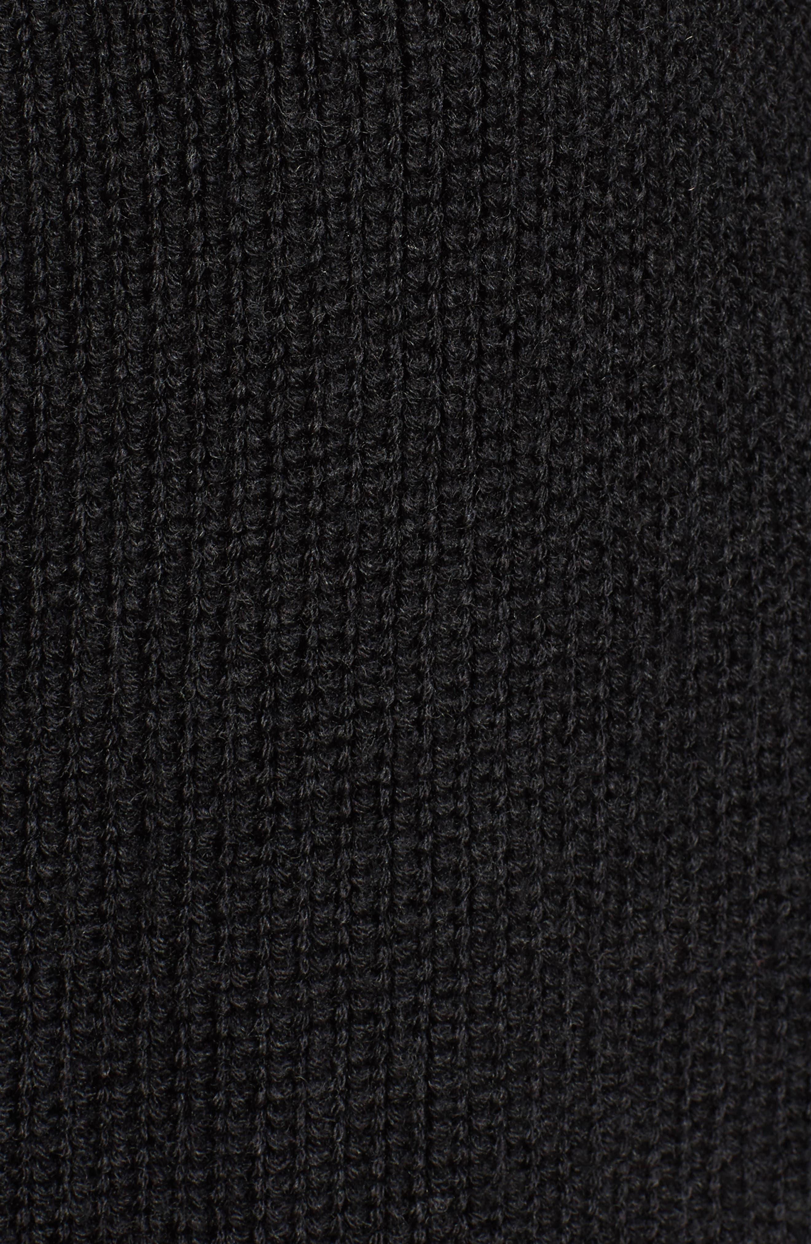 Side Tie Cardigan,                             Alternate thumbnail 5, color,                             Coal