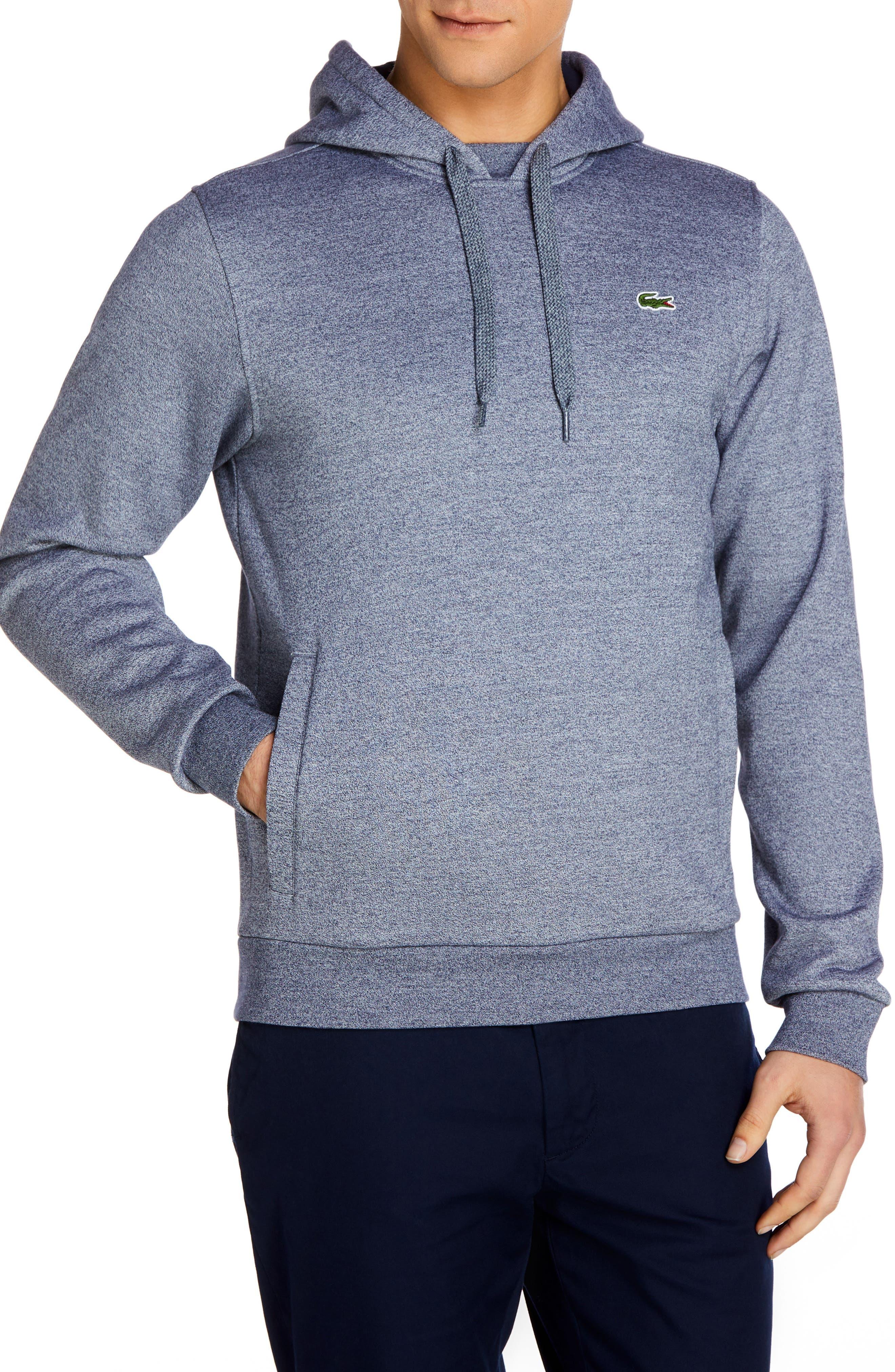 Sport Cotton Blend Hoodie,                         Main,                         color, Tvk Mouline Navy Blue/ Navy Bl