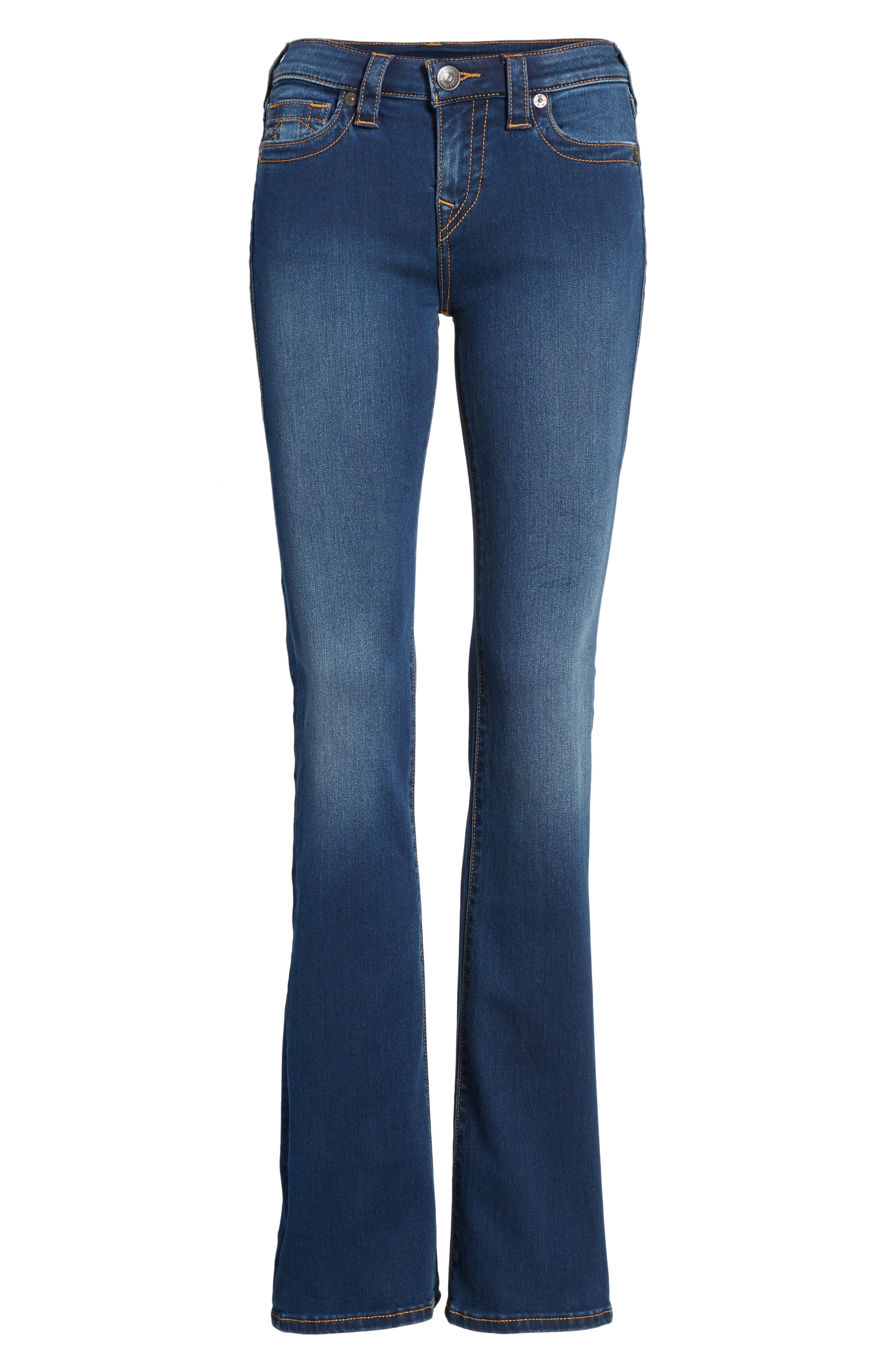 Becca Bootcut Jeans,                             Alternate thumbnail 6, color,                             Lands End Indigo