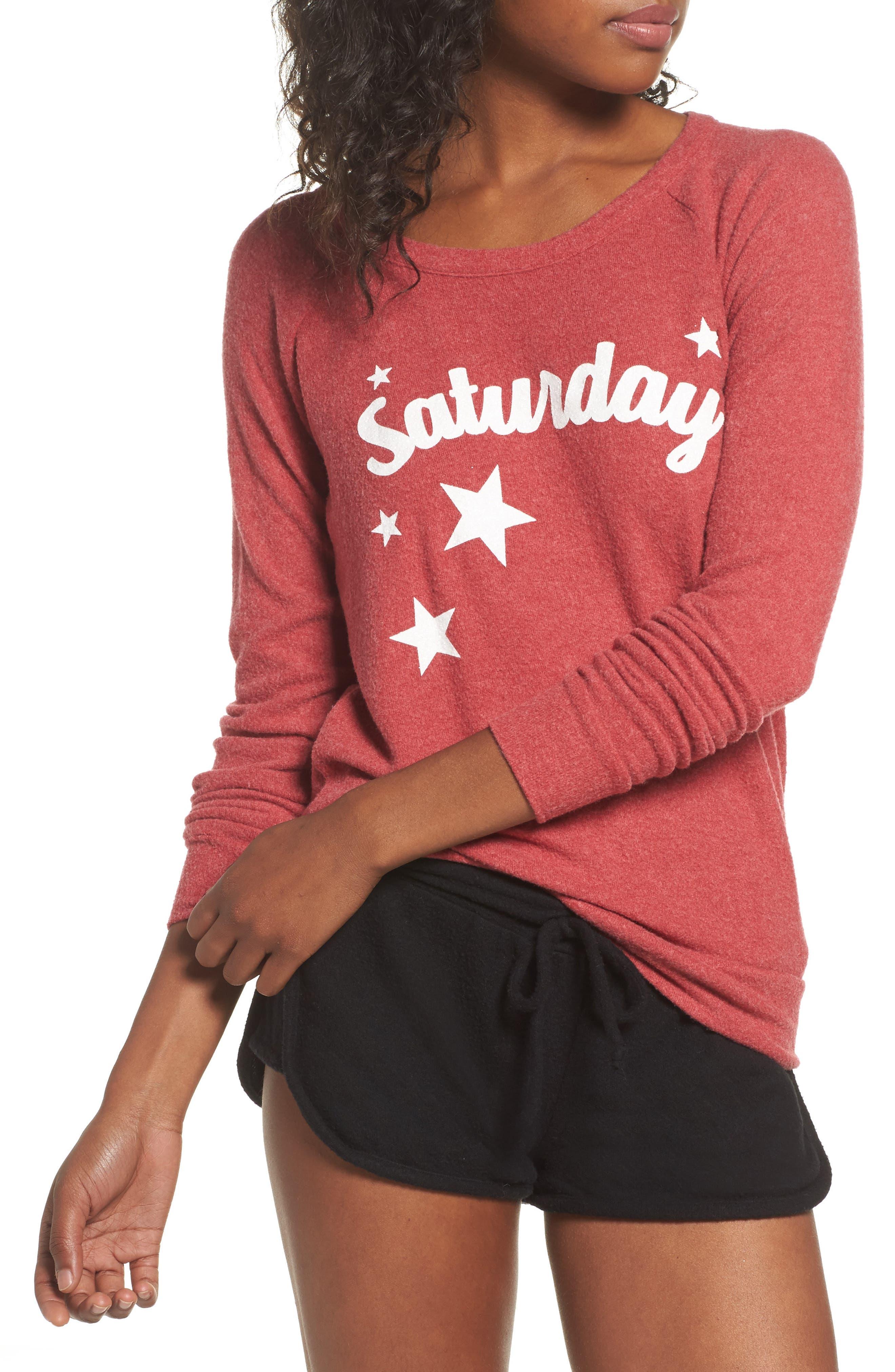 Love Saturday Drape Back Pullover,                         Main,                         color, Cardinal