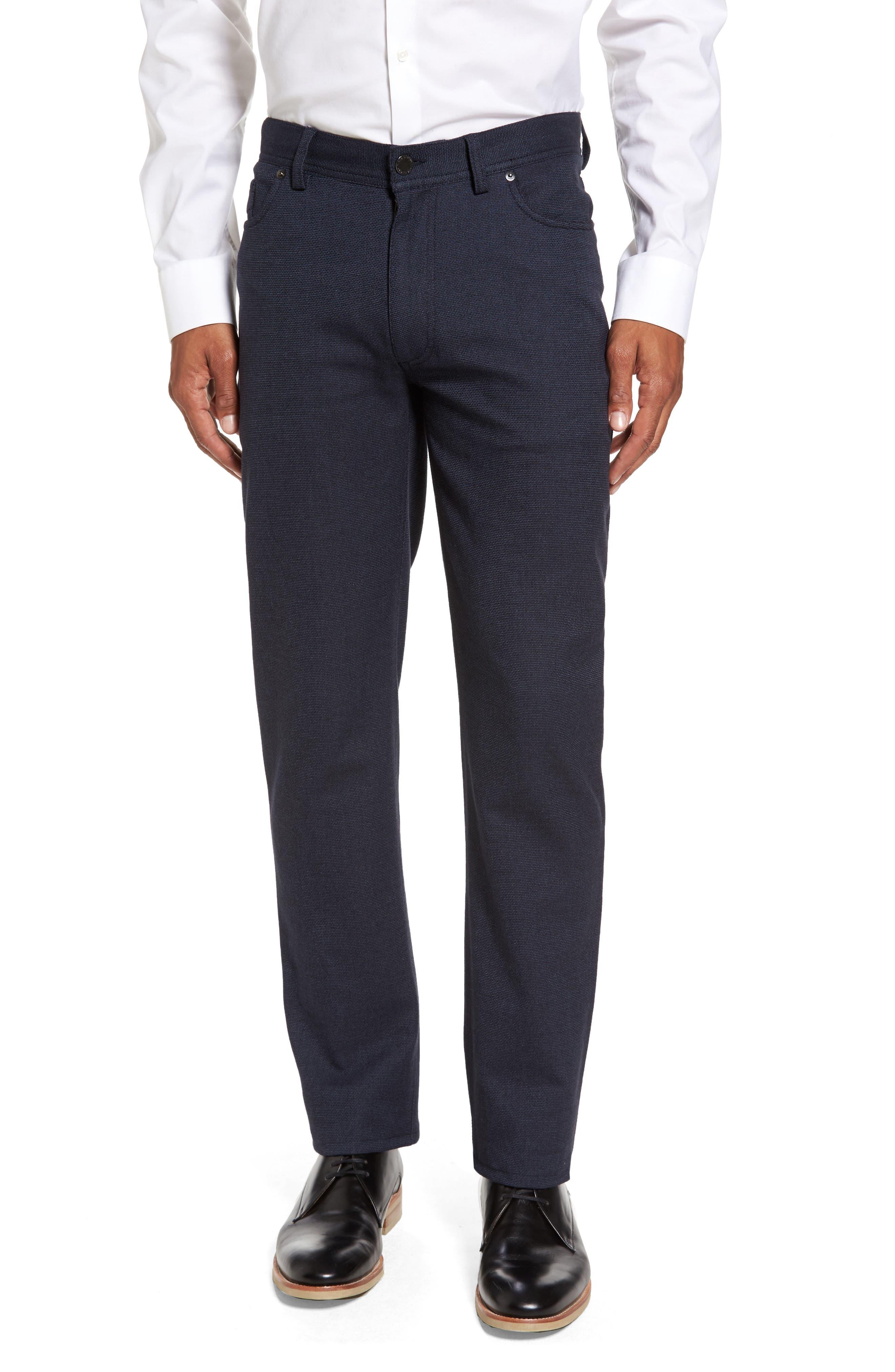 Vince Slim Fit Stretch Five-Pocket Pants,                             Main thumbnail 1, color,                             Navy Digital Neat