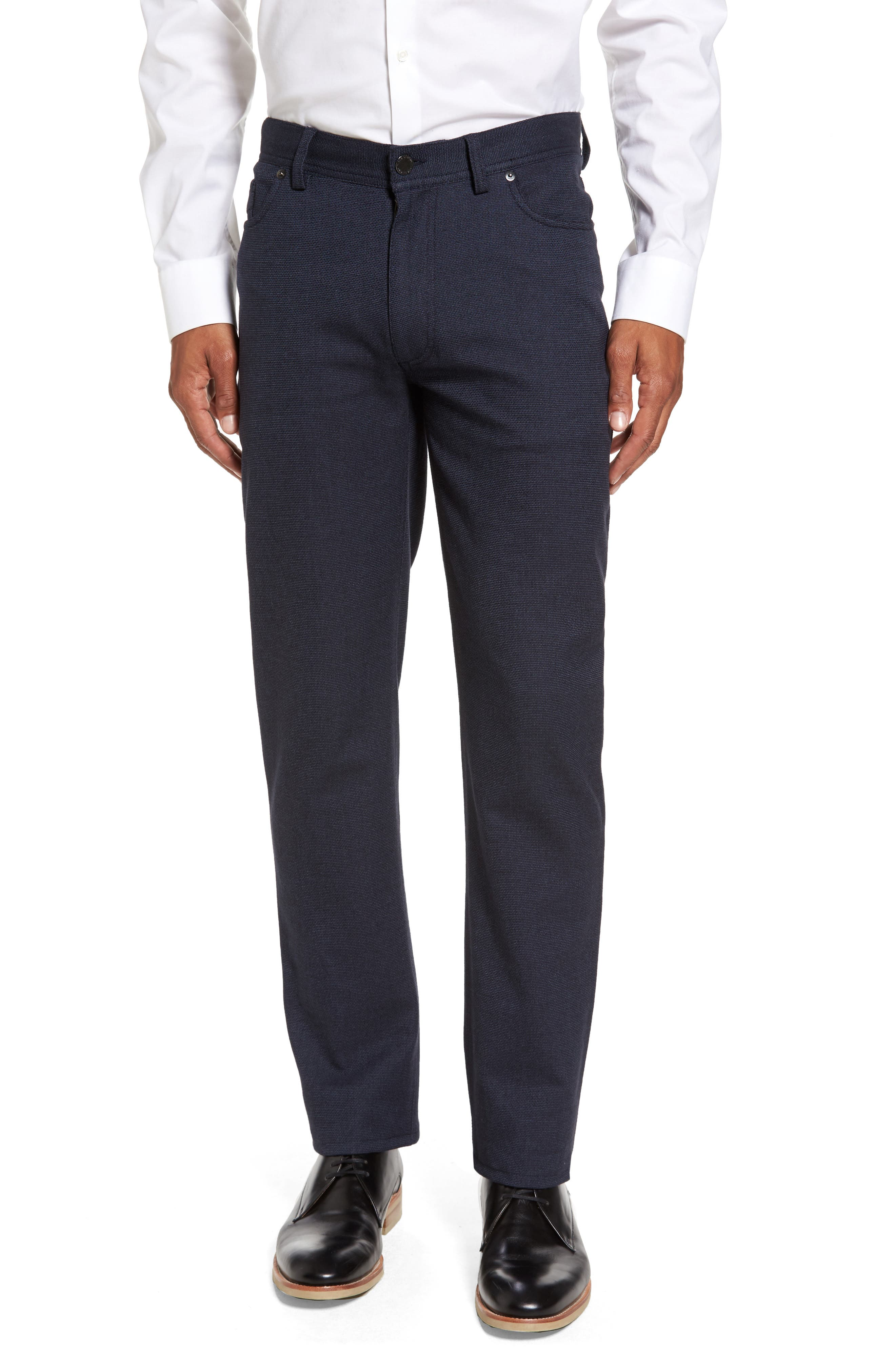 Vince Slim Fit Stretch Five-Pocket Pants,                         Main,                         color, Navy Digital Neat
