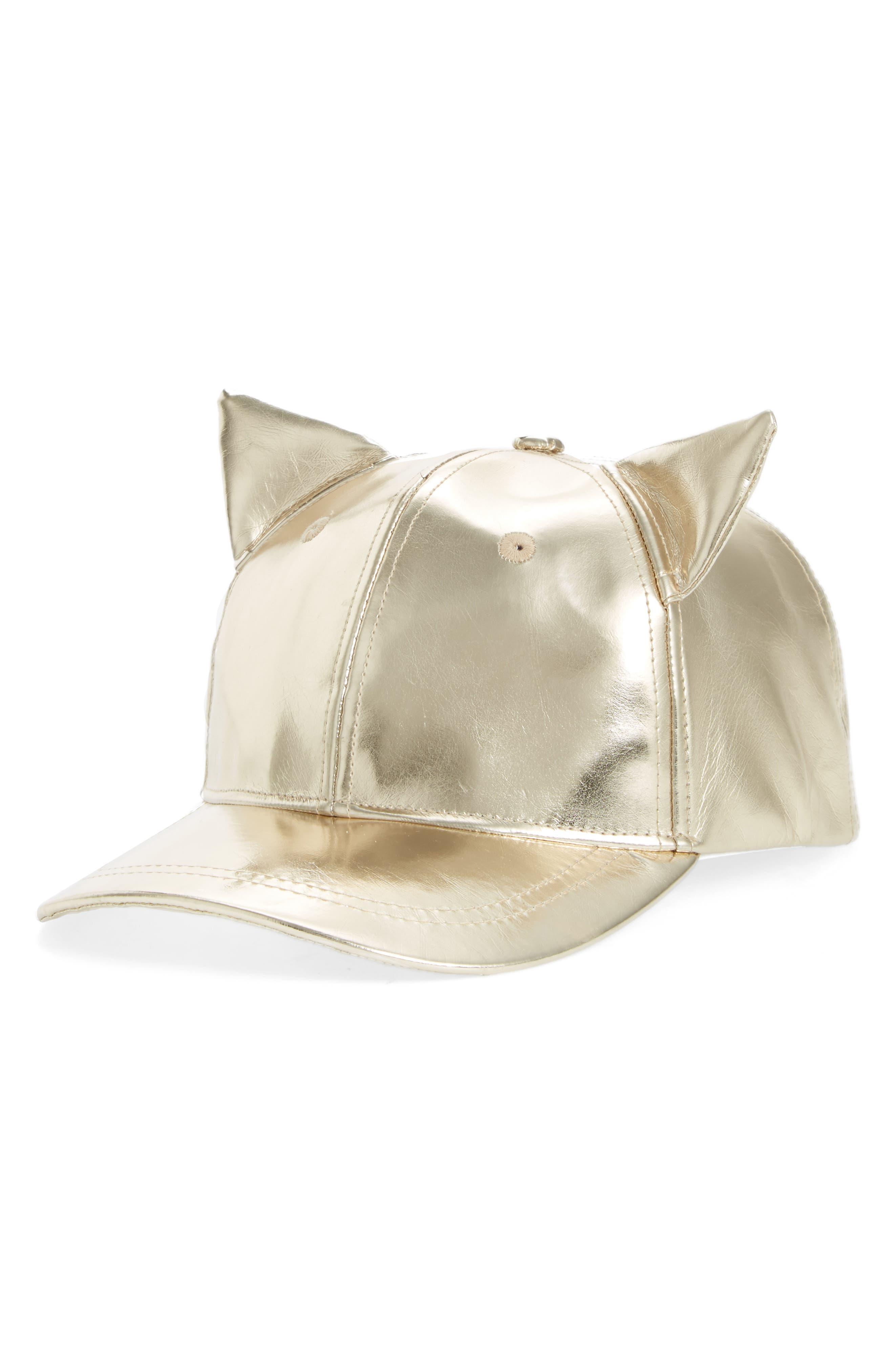 Alternate Image 1 Selected - Tucker + Tate Cat Ears Baseball Cap (Big Girls)