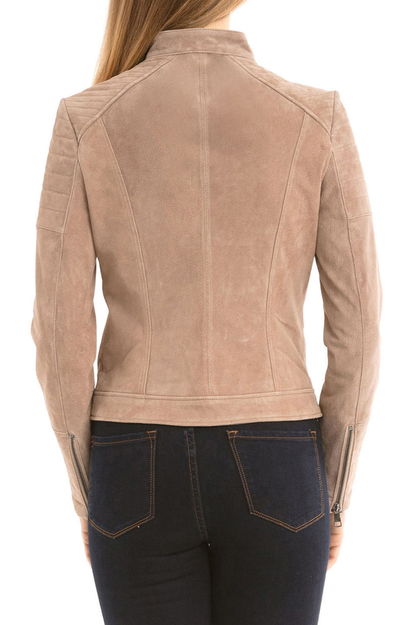 Alternate Image 2  - Bagatelle Suede Moto Jacket
