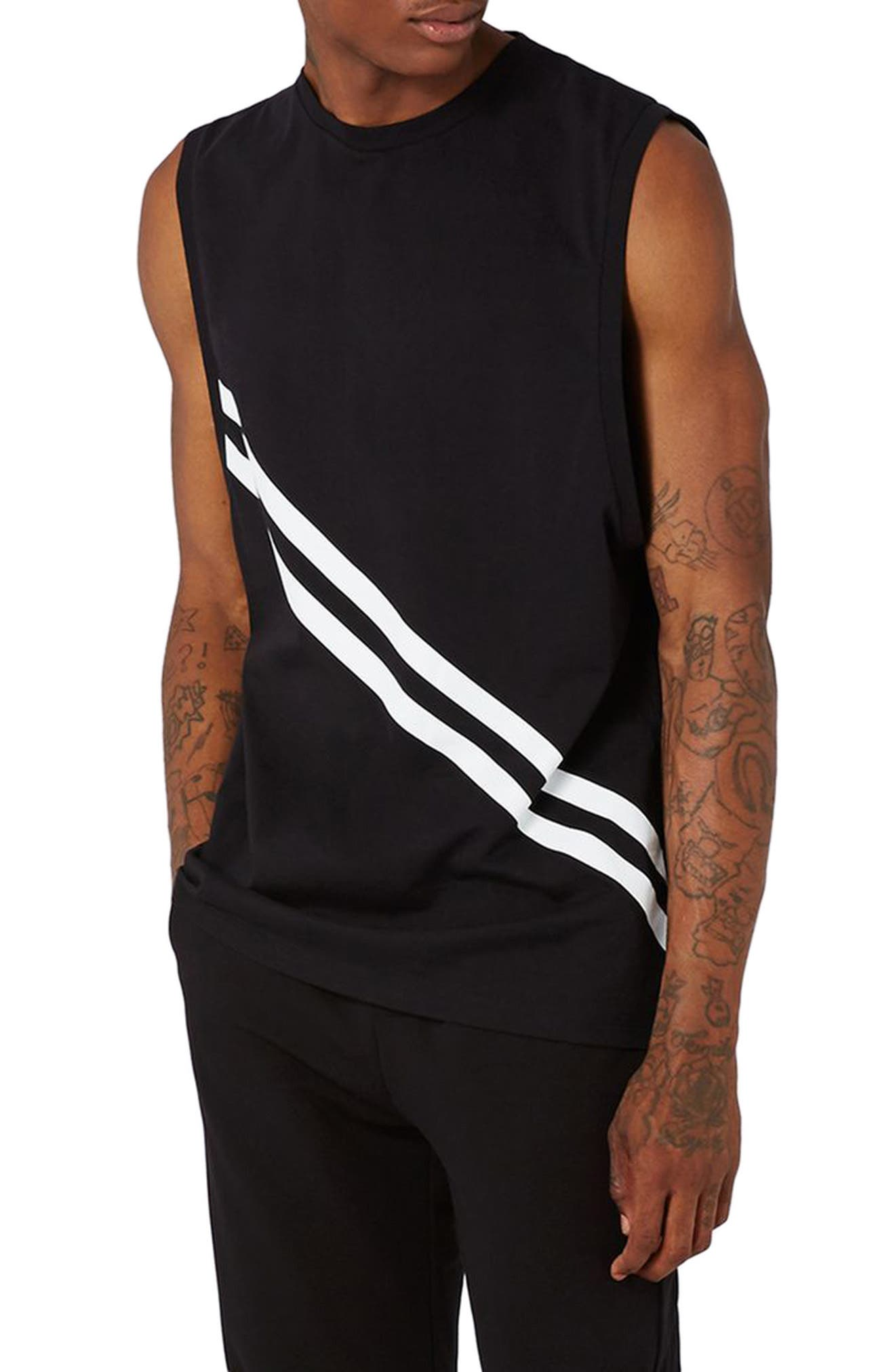 Topman AAA Collection Stripe Tank