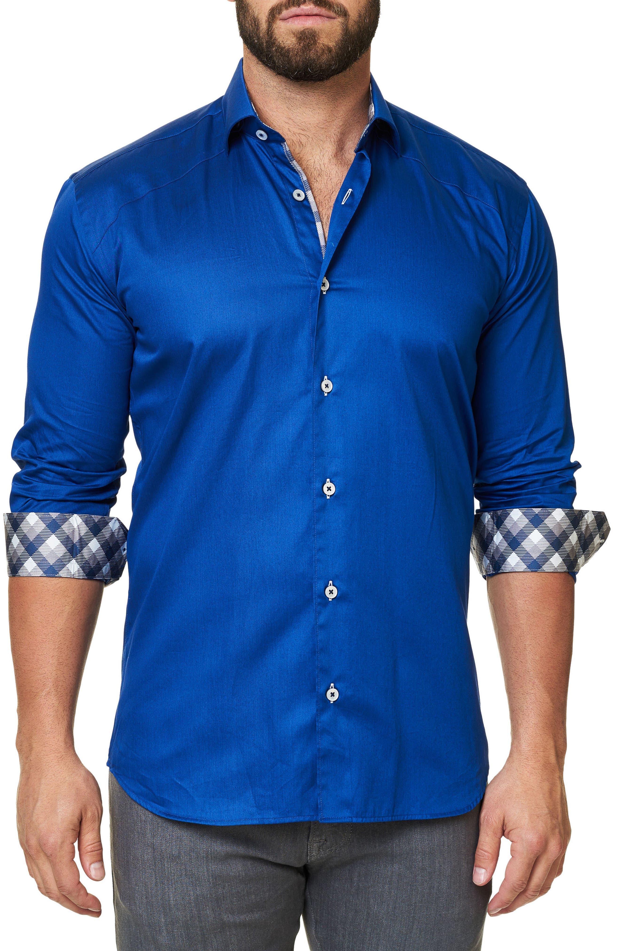 Trim Fit Sport Shirt,                             Alternate thumbnail 3, color,                             Navy