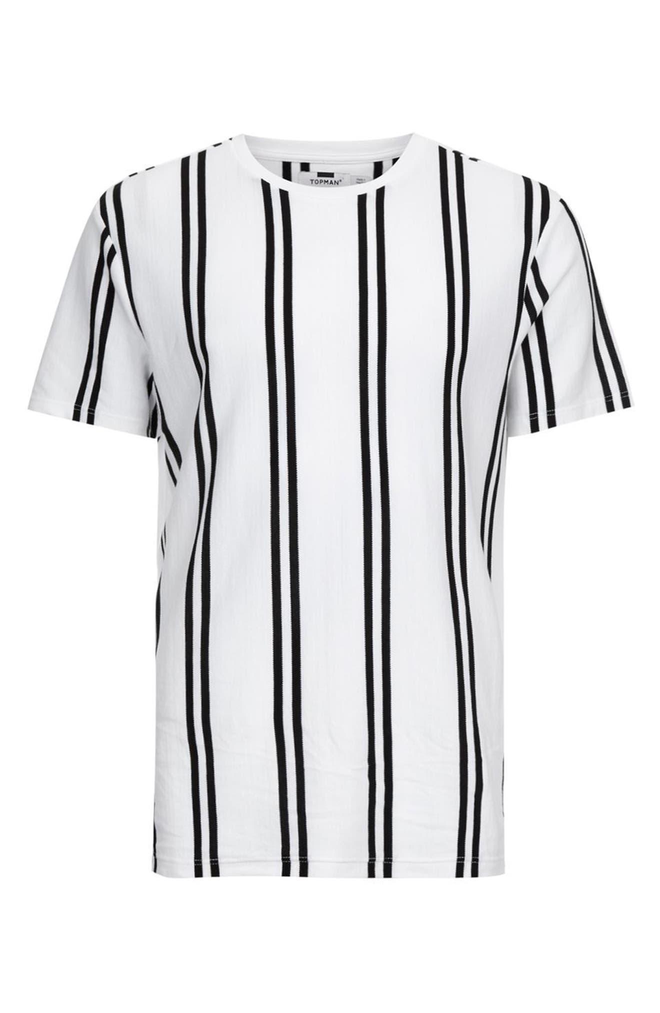 Dilan Stripe T-Shirt,                             Alternate thumbnail 4, color,                             White Multi