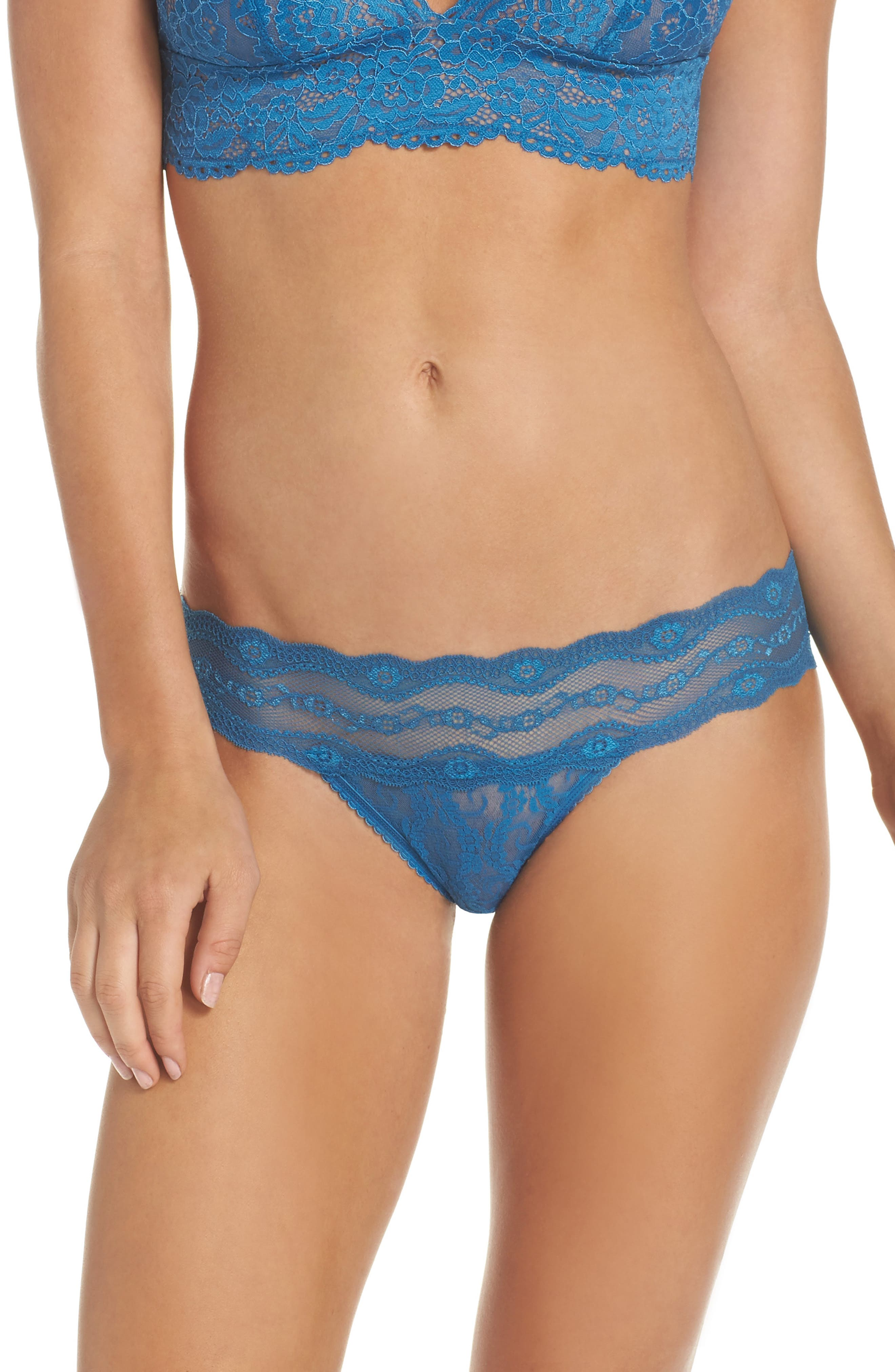 Main Image - b.tempt'd by Wacoal 'Lace Kiss' Bikini (3 for $33)