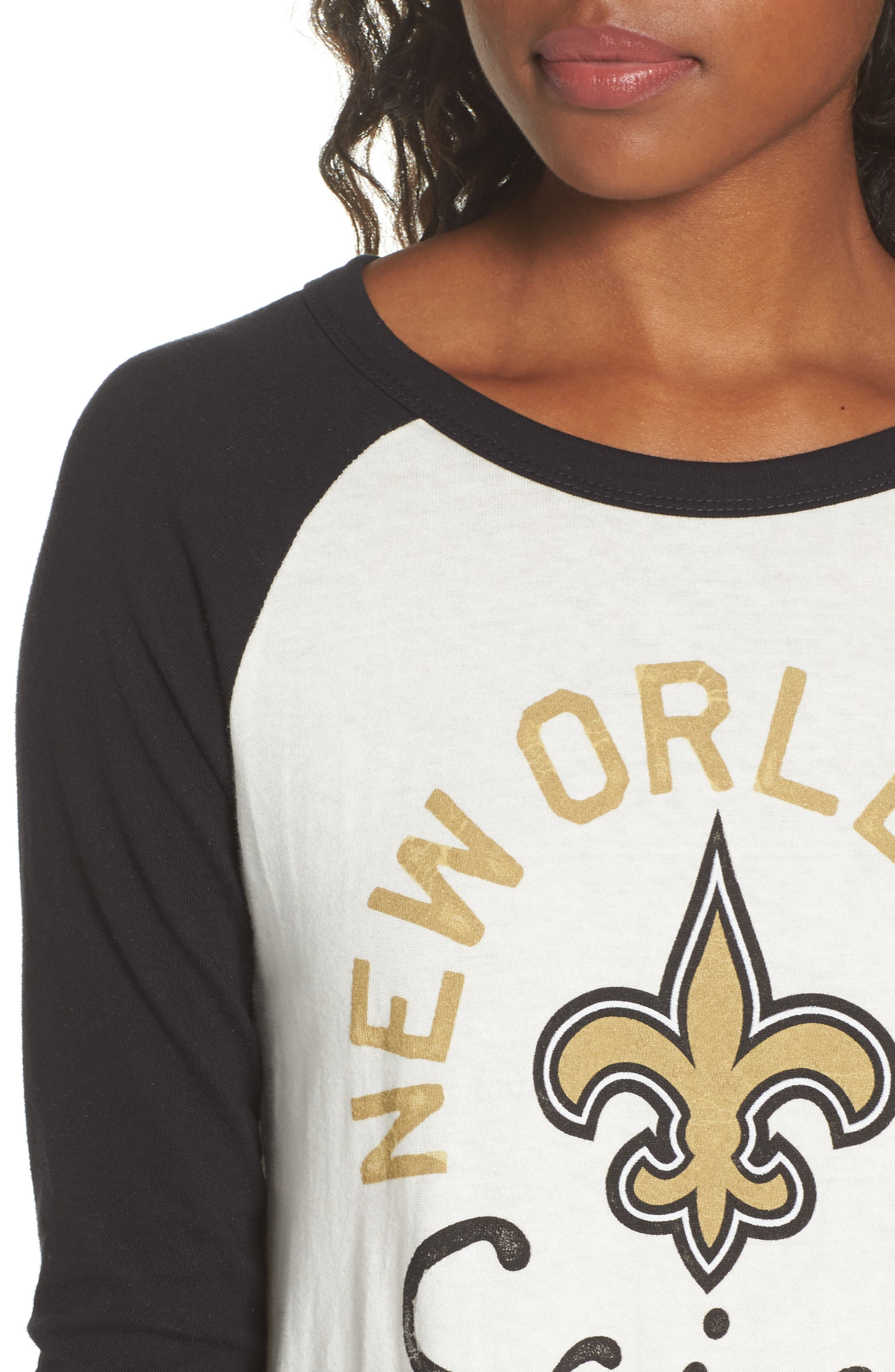 Alternate Image 4  - Junk Food NFL New Orleans Saints Raglan Tee