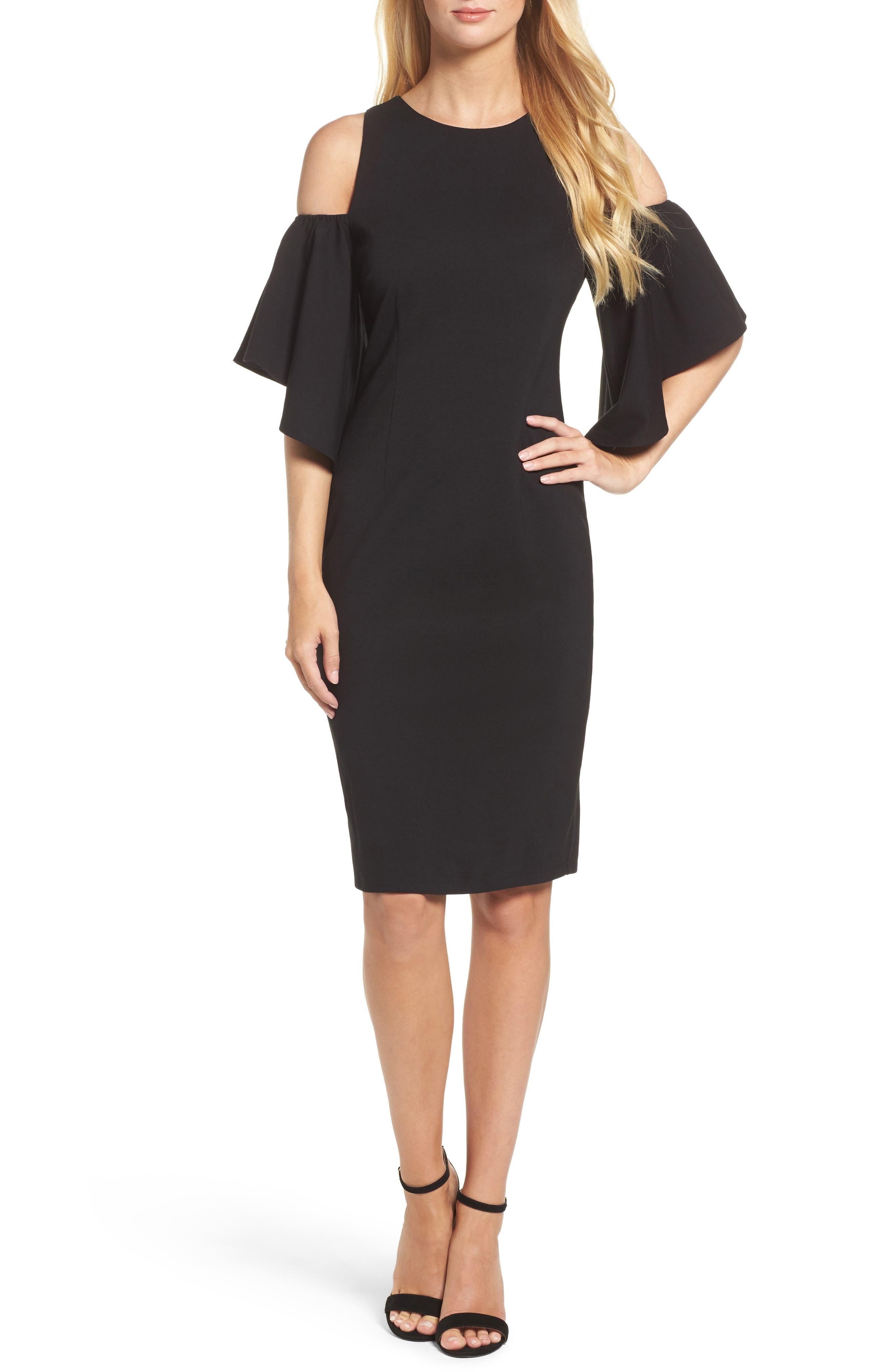 Alternate Image 1 Selected - Eliza J Cold Shoulder Sheath Dress