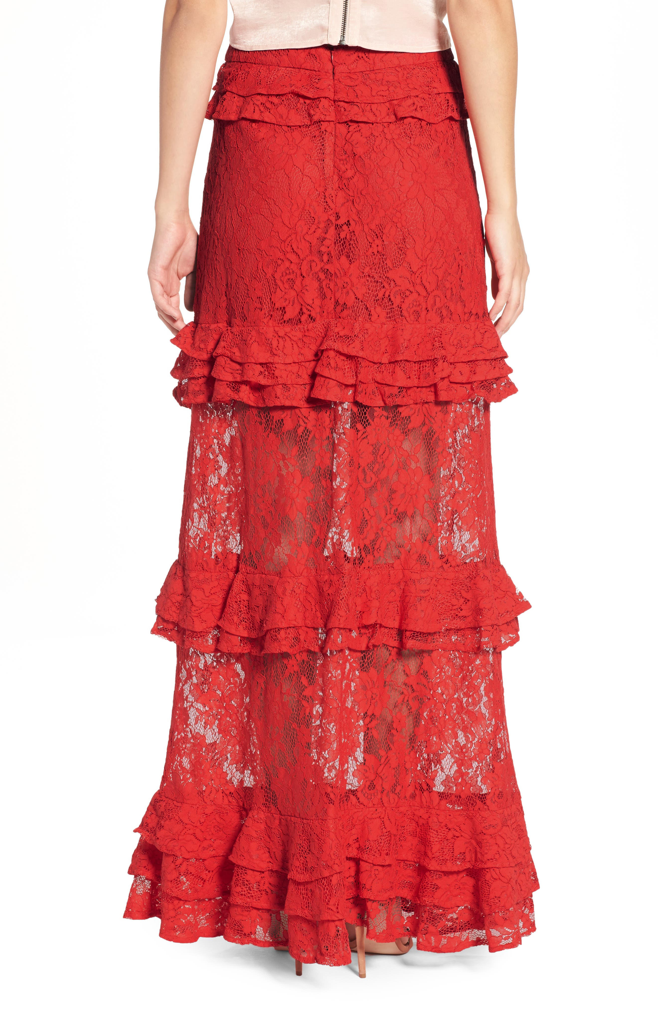 Alternate Image 2  - AFRM Otis Ruffle Maxi Skirt