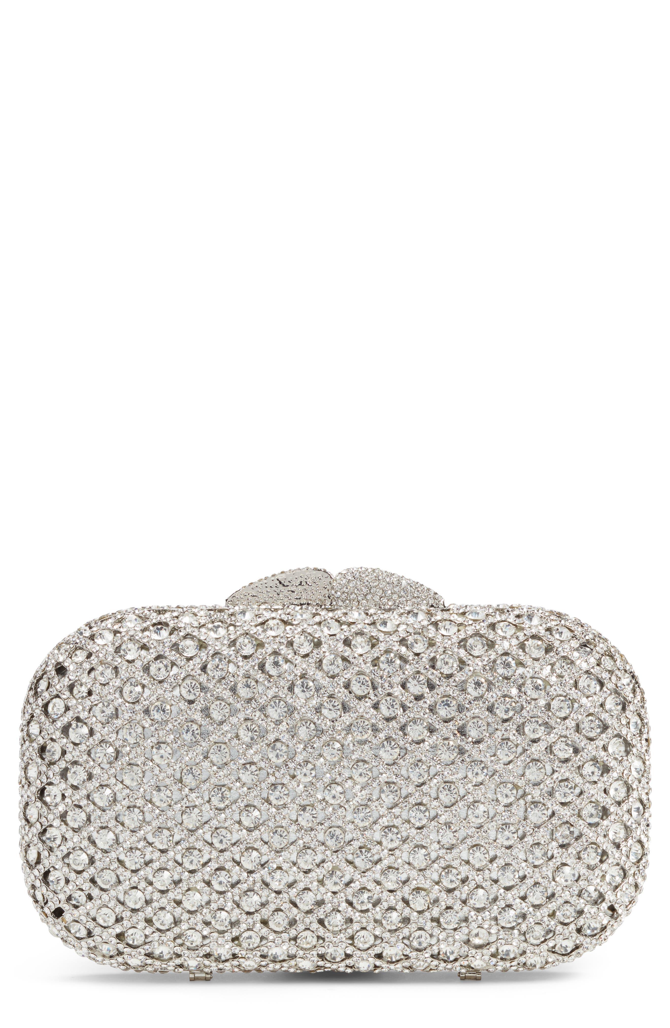 Main Image - Nordstrom Crystal Lattice Box Minaudière
