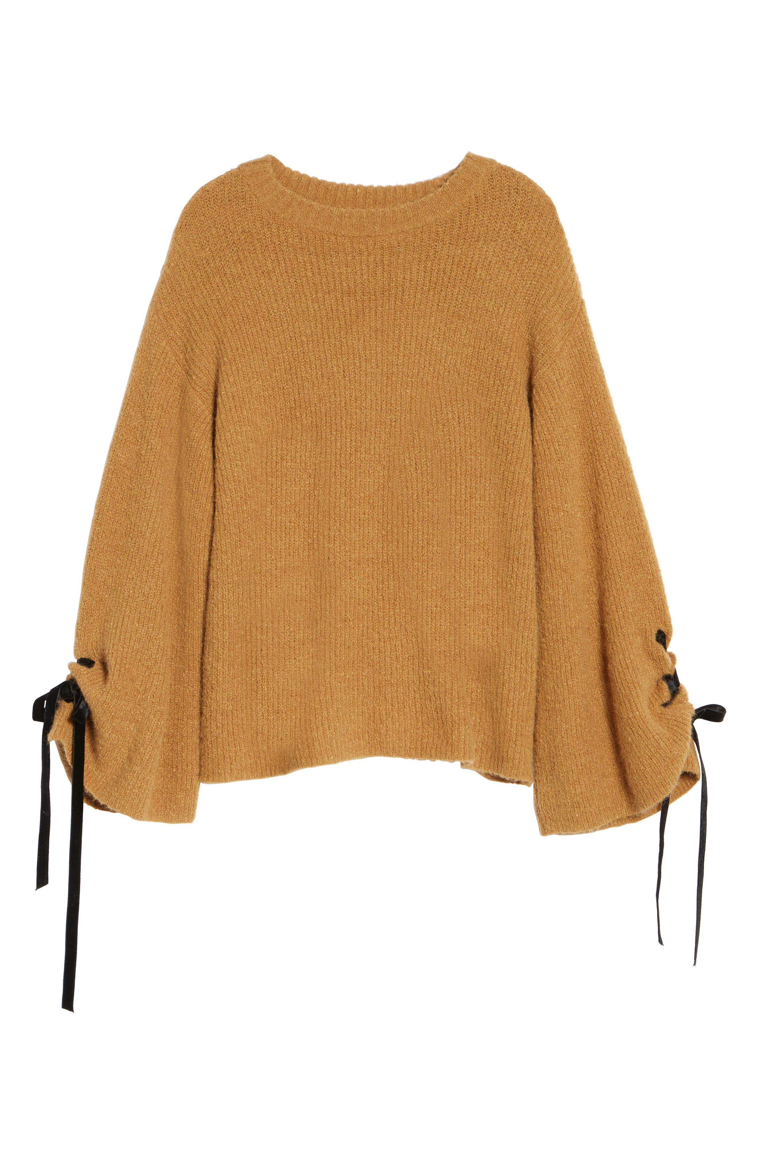 Alternate Image 6  - BP. Lace-Up Sleeve Sweater
