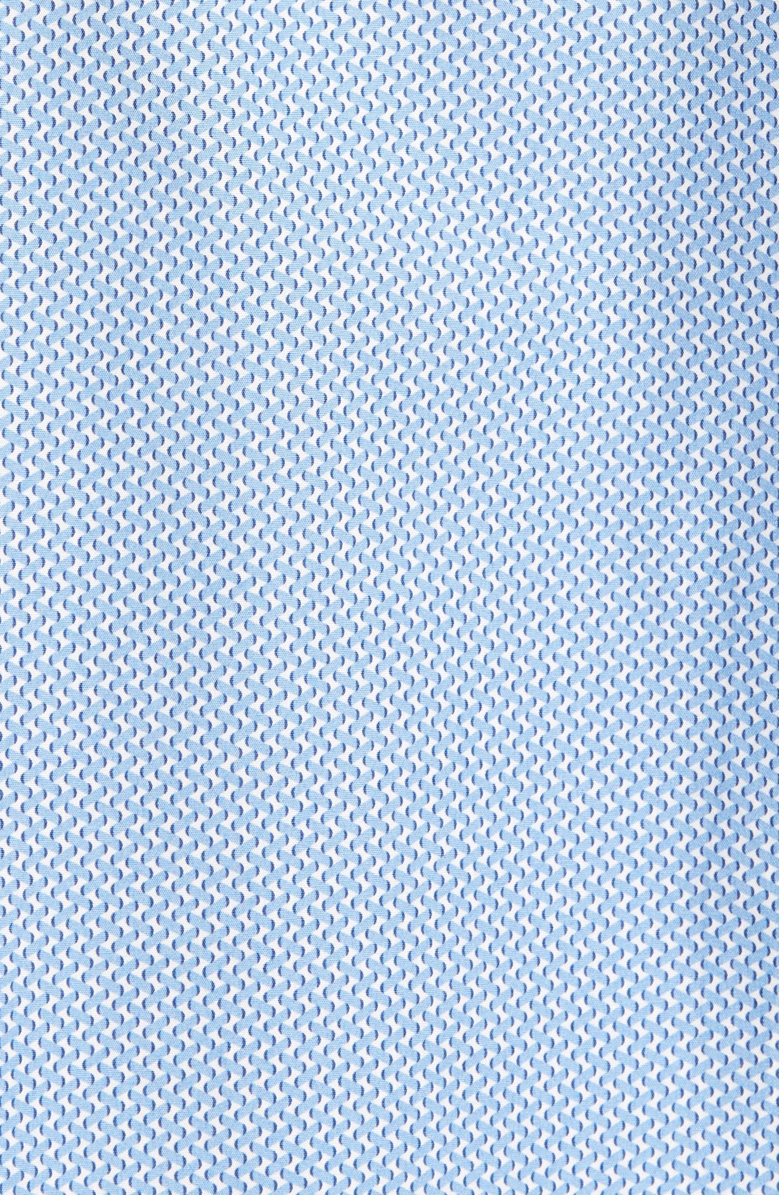 Shaped Fit Print Sport Shirt,                             Alternate thumbnail 5, color,                             Air Blue