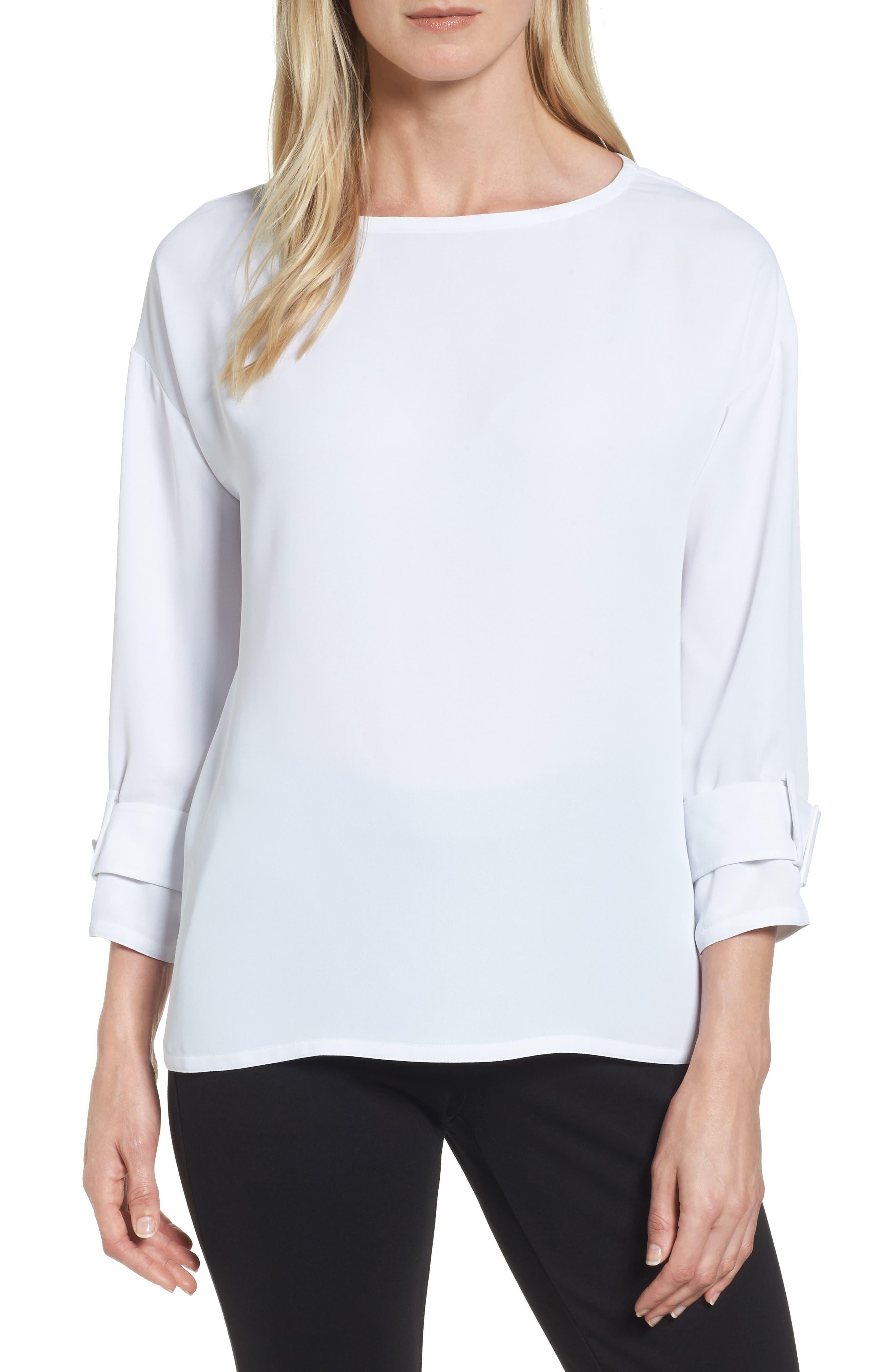 Alternate Image 1 Selected - NIC+ZOE Buckle Sleeve Top (Regular & Petite)