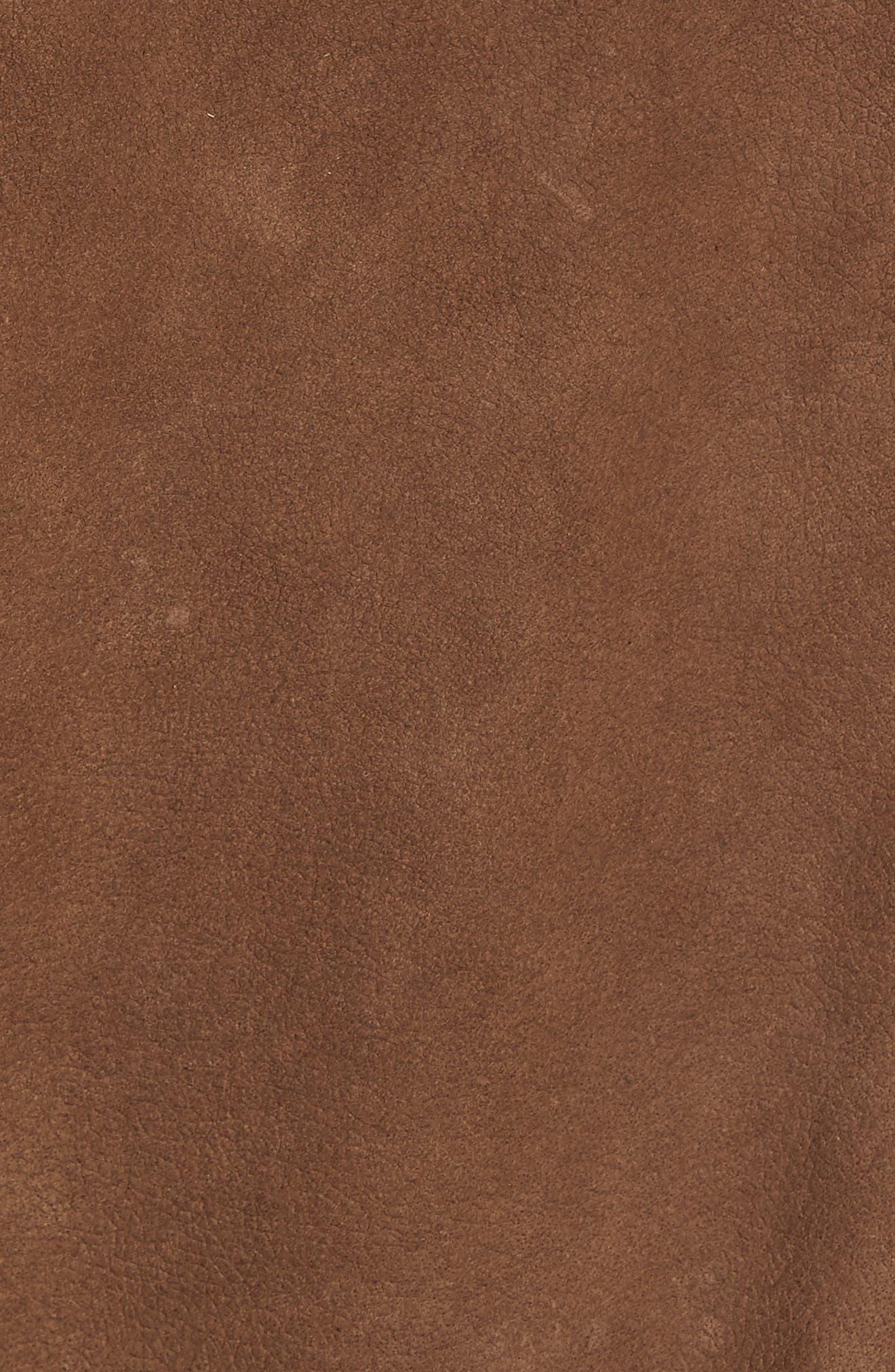 Alternate Image 5  - Missani Le Collezioni Leather Trim Nubuck Jacket