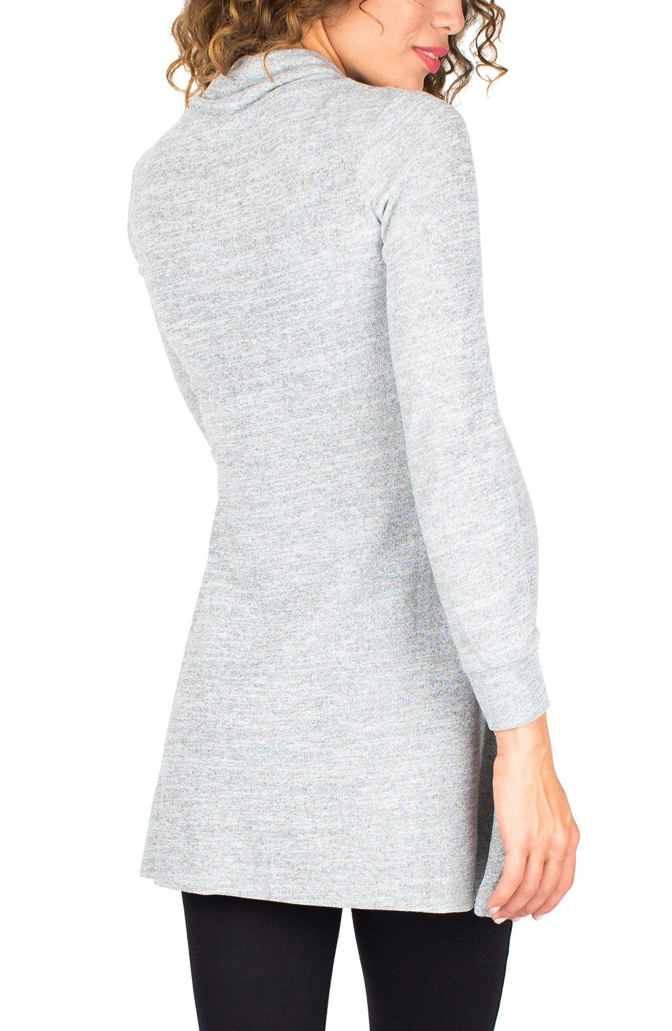 'Tanya' Jersey Maternity Tunic,                             Alternate thumbnail 2, color,                             Cloud