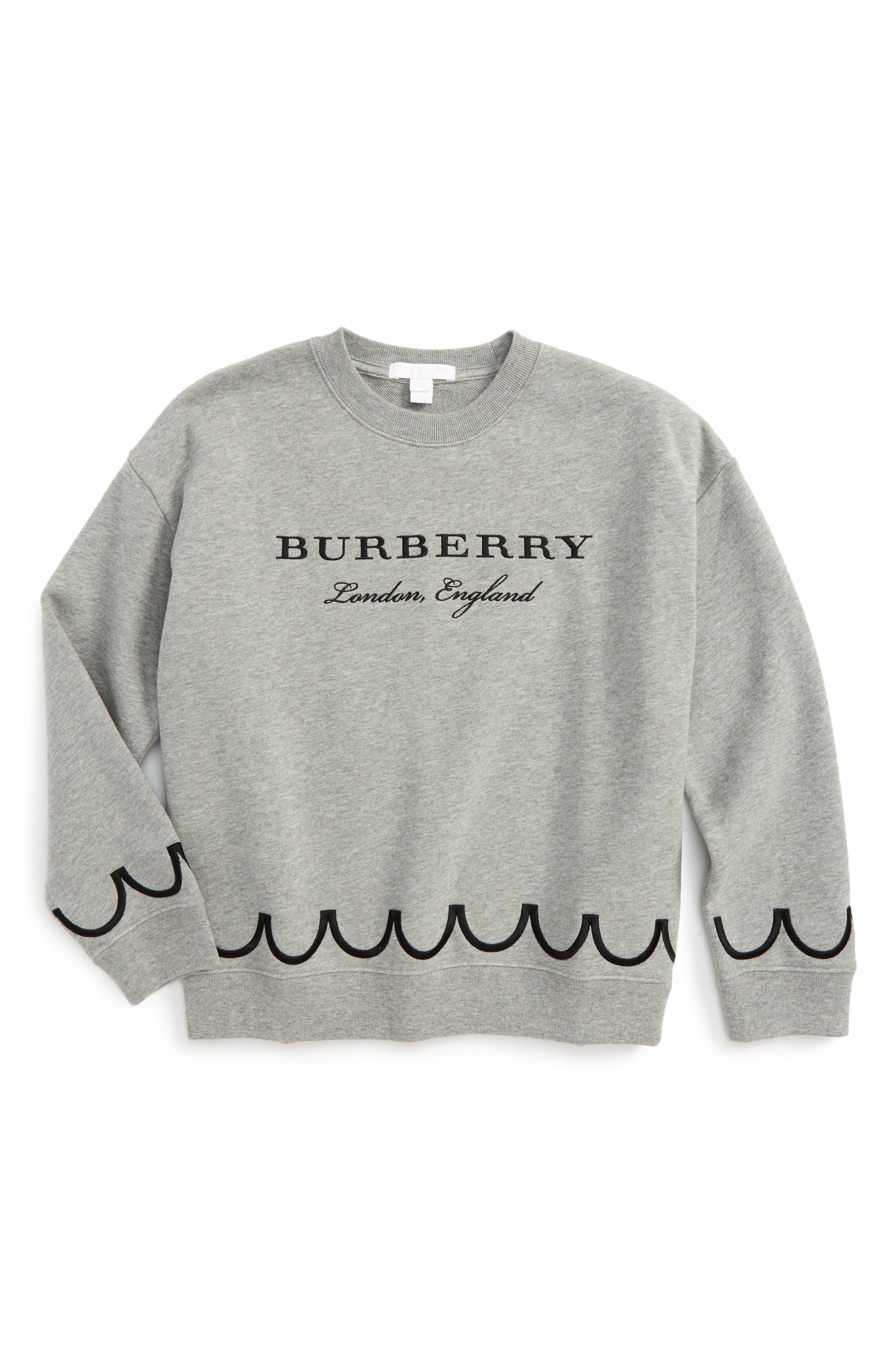Main Image - Burberry Emmie Sweatshirt (Toddler Girls, Little Girls & Big Girls)