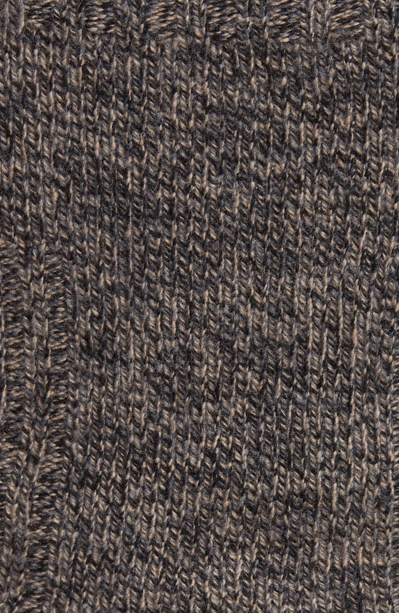Mouline Wool Blend Sweater Tank,                             Alternate thumbnail 6, color,                             Deserto/ Nero