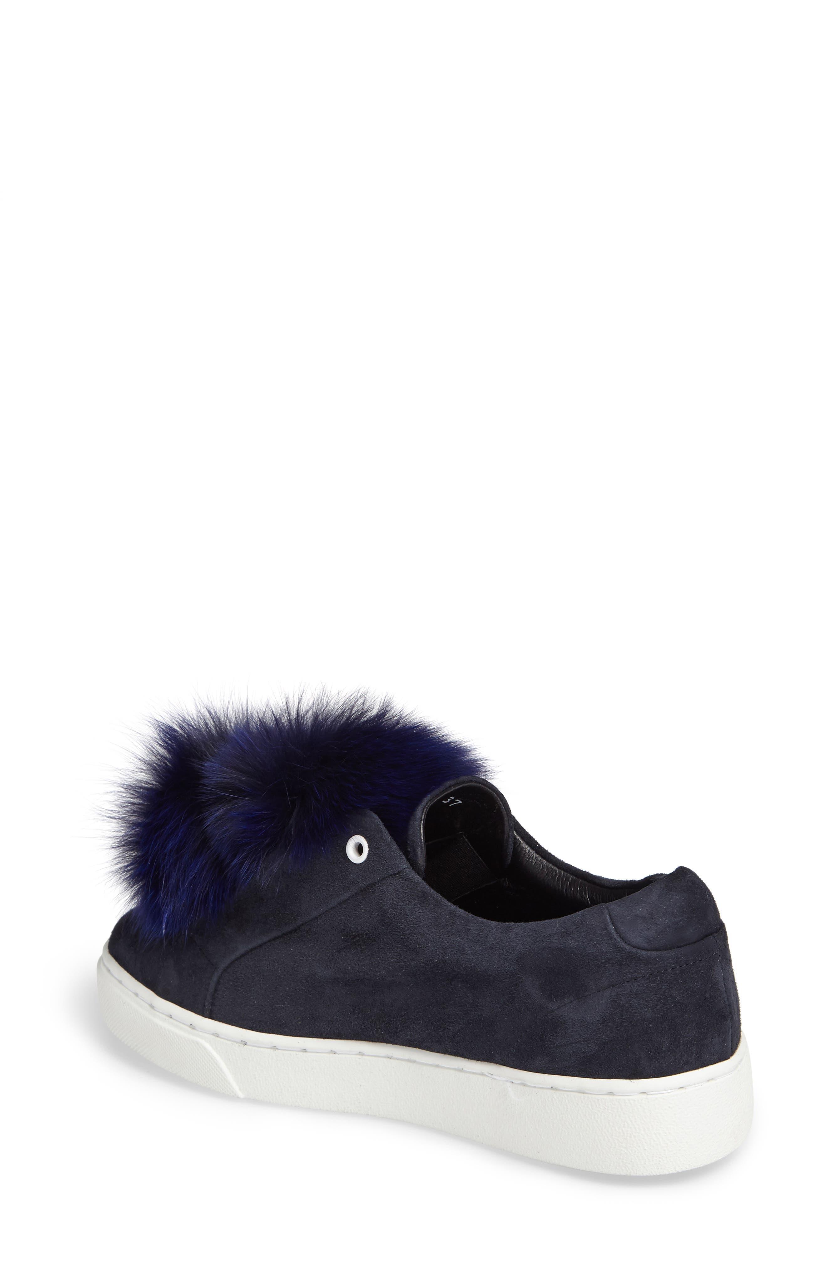 Alternate Image 2  - Here / Now T Genuine Fox Fur Slip-On Sneaker (Women)