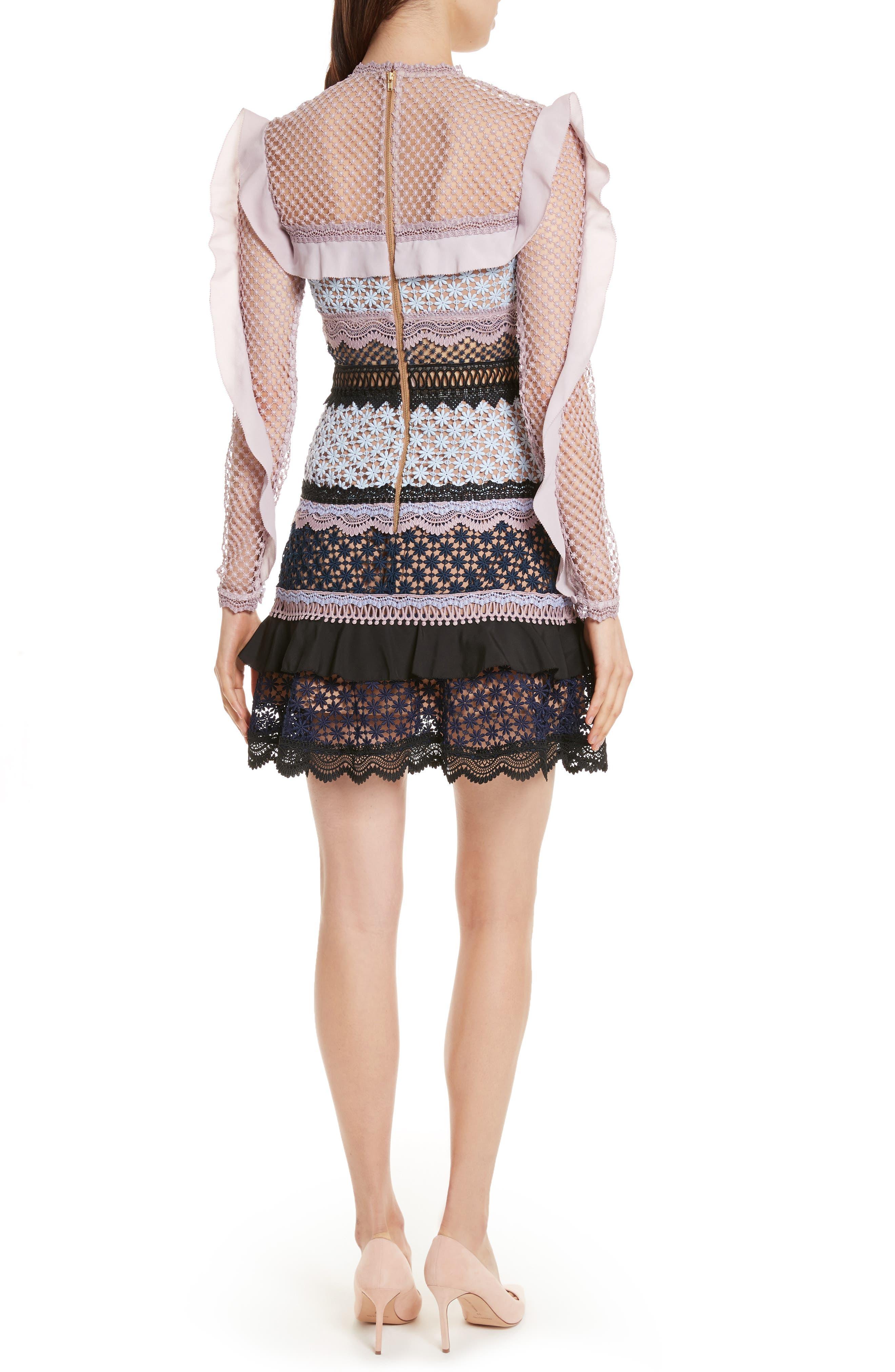 Alternate Image 2  - Self-Portrait Bellis Frill Lace Dress