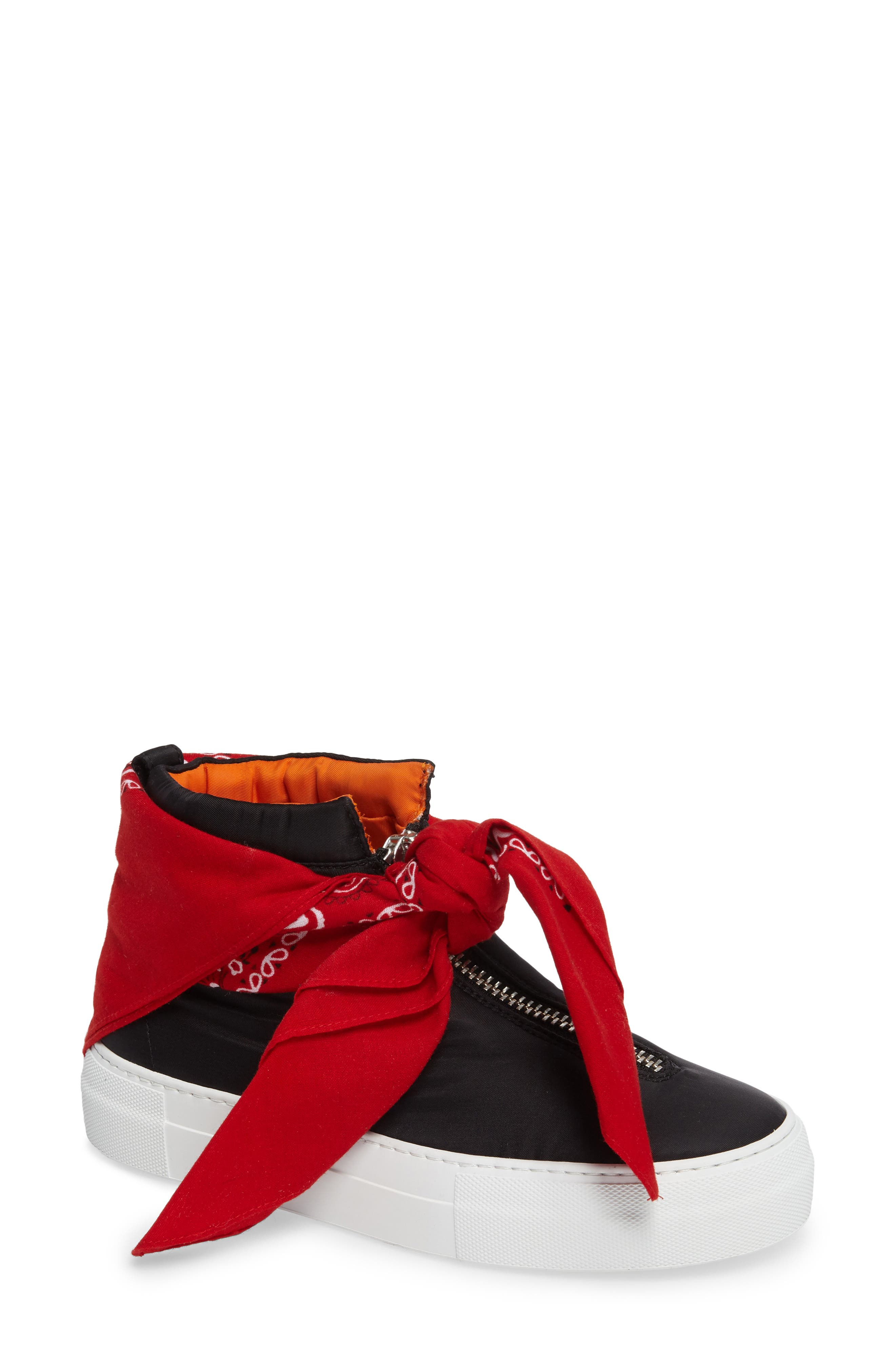 Bandana High Top Sneaker,                         Main,                         color, Black