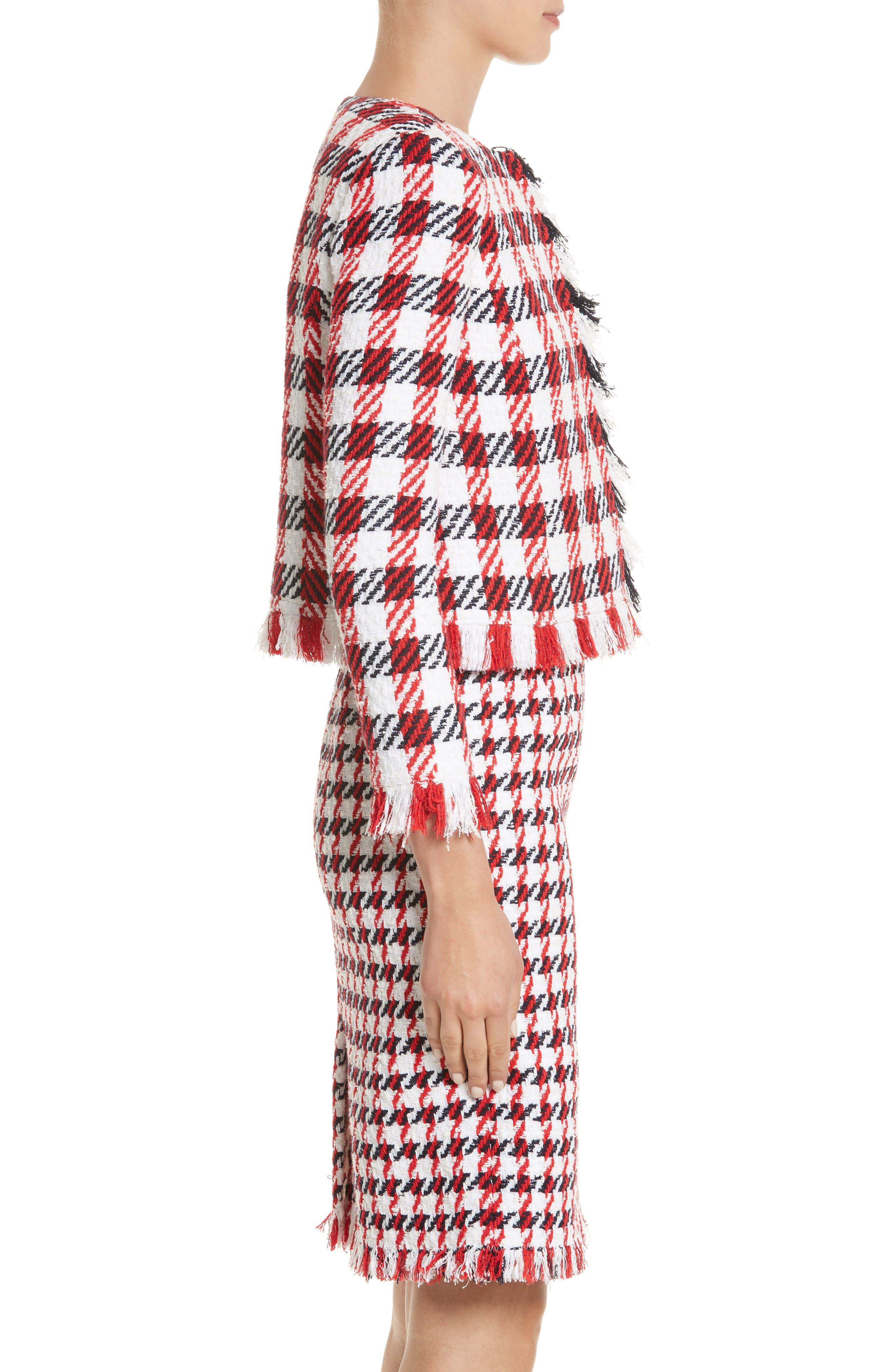Alternate Image 4  - Oscar de la Renta Houndstooth Tweed Jacket