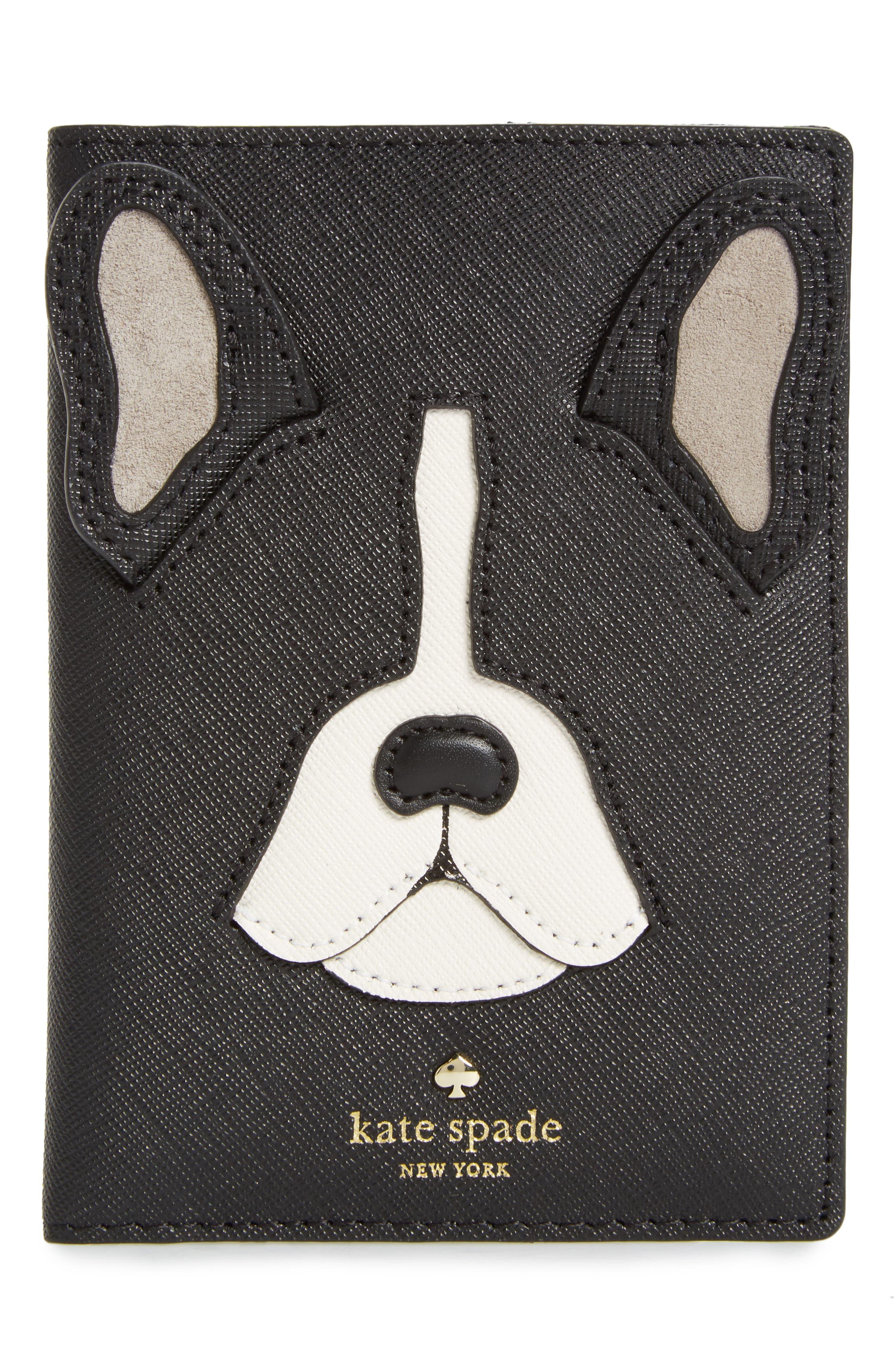 kate spade new york ma cherie - antoine leather passport holder
