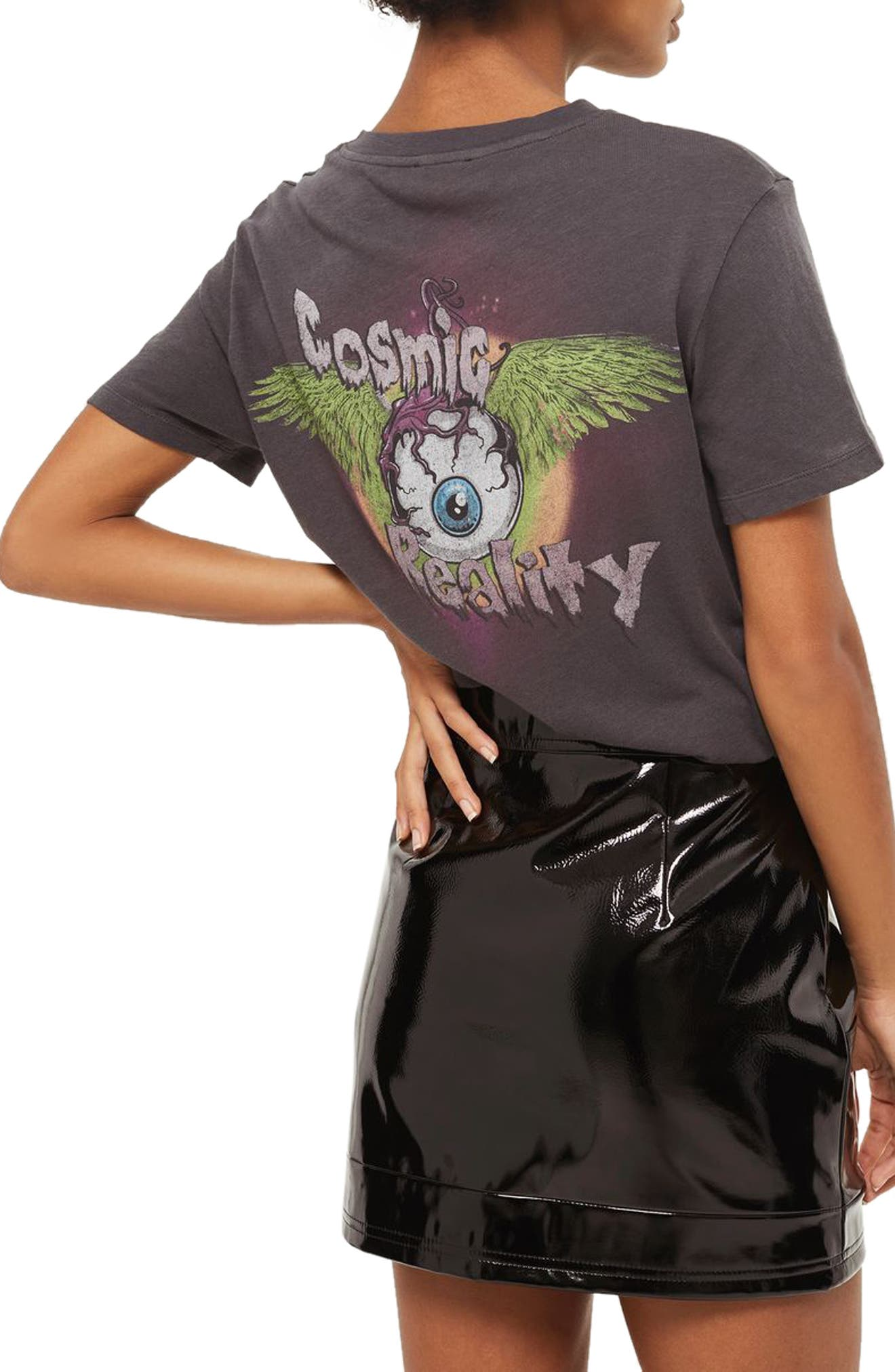 Cosmic Reality Graphic Tee,                             Alternate thumbnail 2, color,                             Washed Black Multi