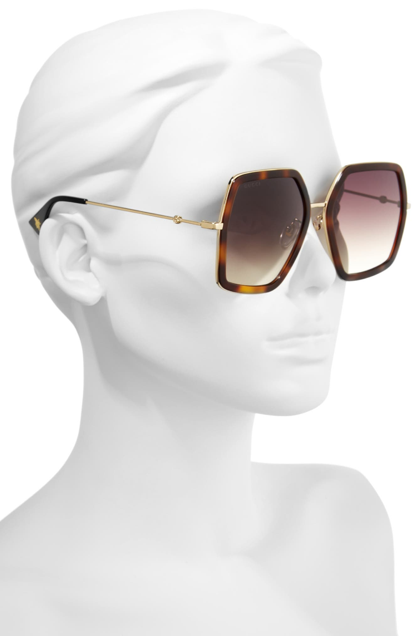 56mm Sunglasses,                             Alternate thumbnail 2, color,                             Havana/ Brown