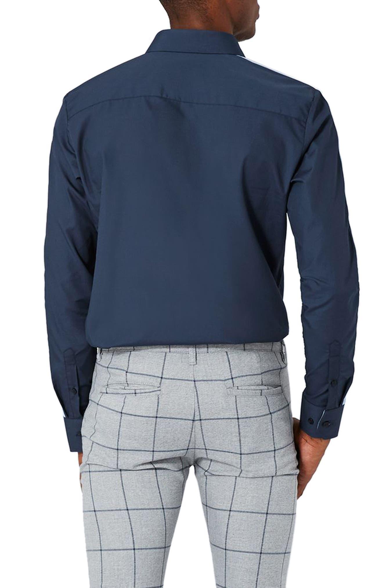 Alternate Image 3  - Topman Slim Fit Contrast Stripe Woven Shirt