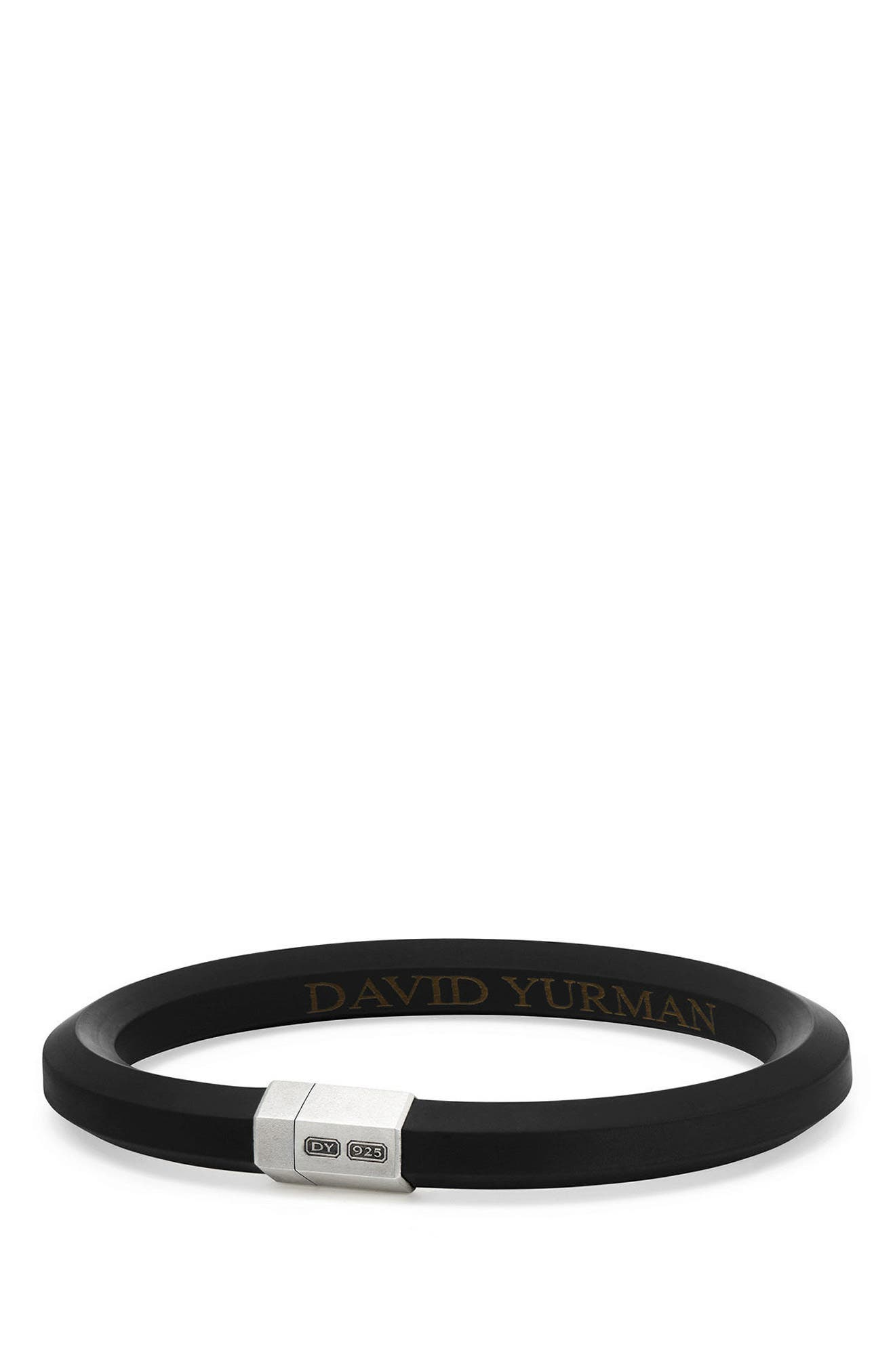 Alternate Image 1 Selected - David Yurman Streamline Rubber ID Bracelet in Black