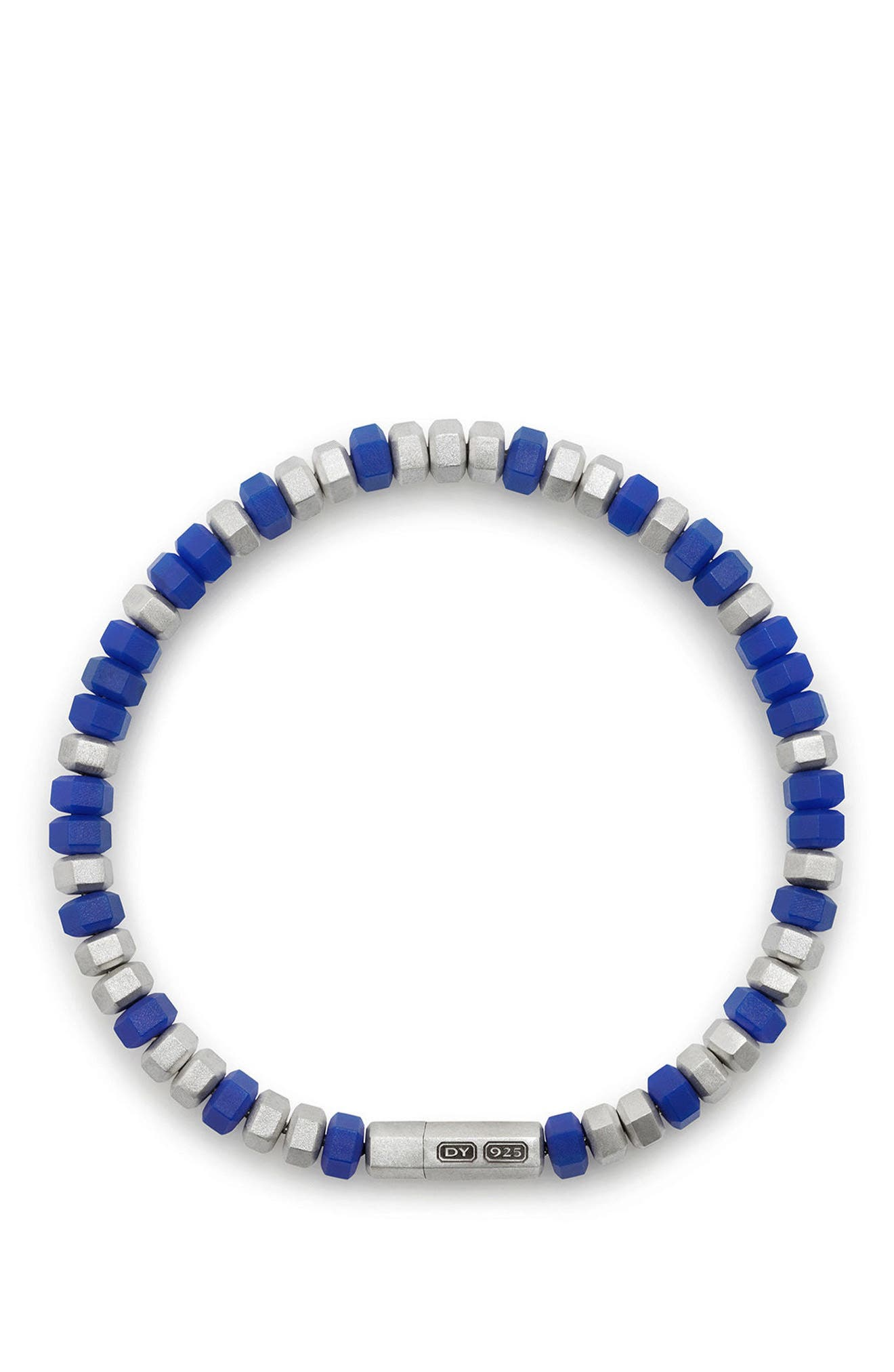 Hex Bead Bracelet,                             Alternate thumbnail 2, color,                             Blue