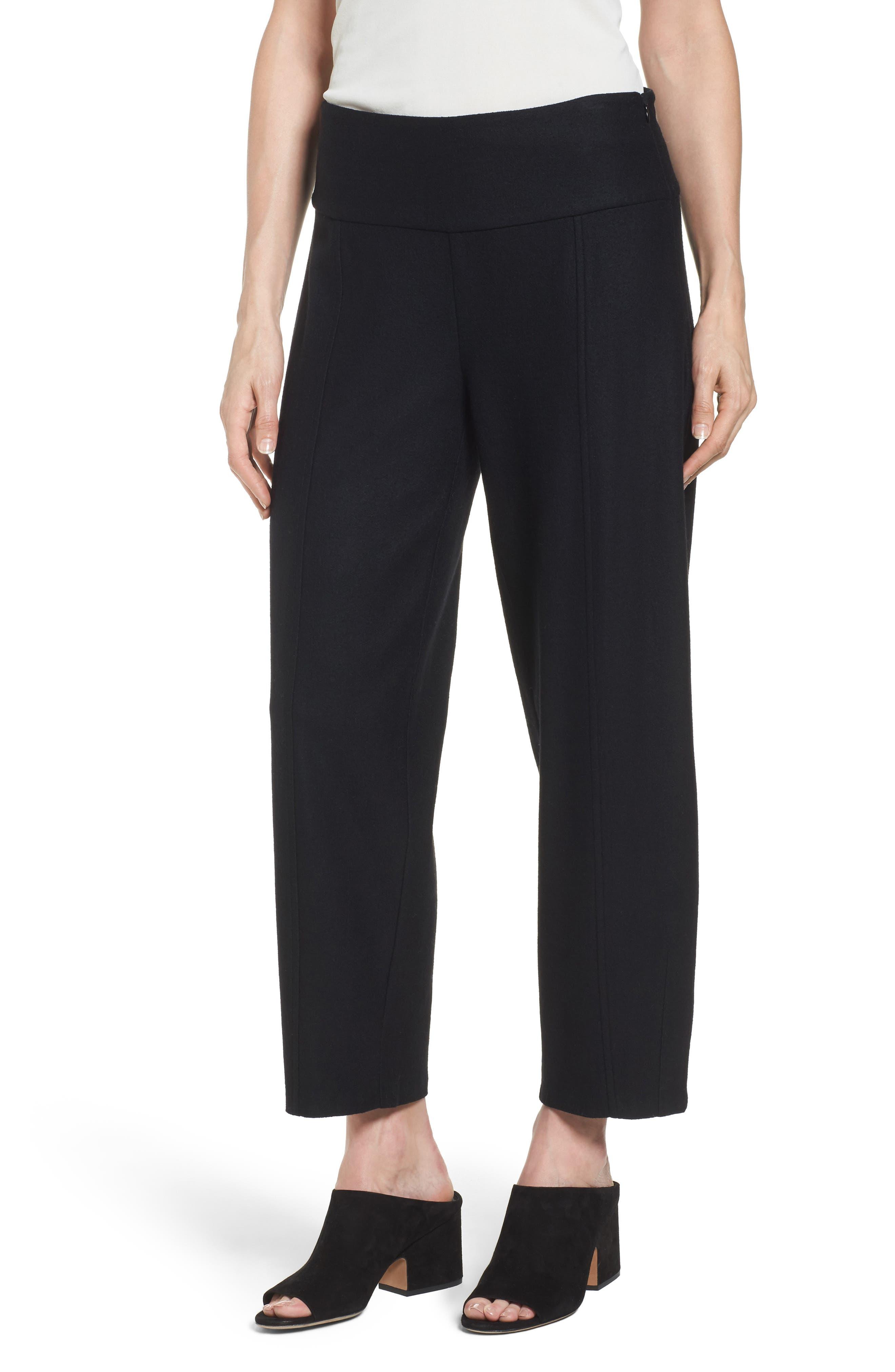 Wool Ankle Pants,                         Main,                         color, Black