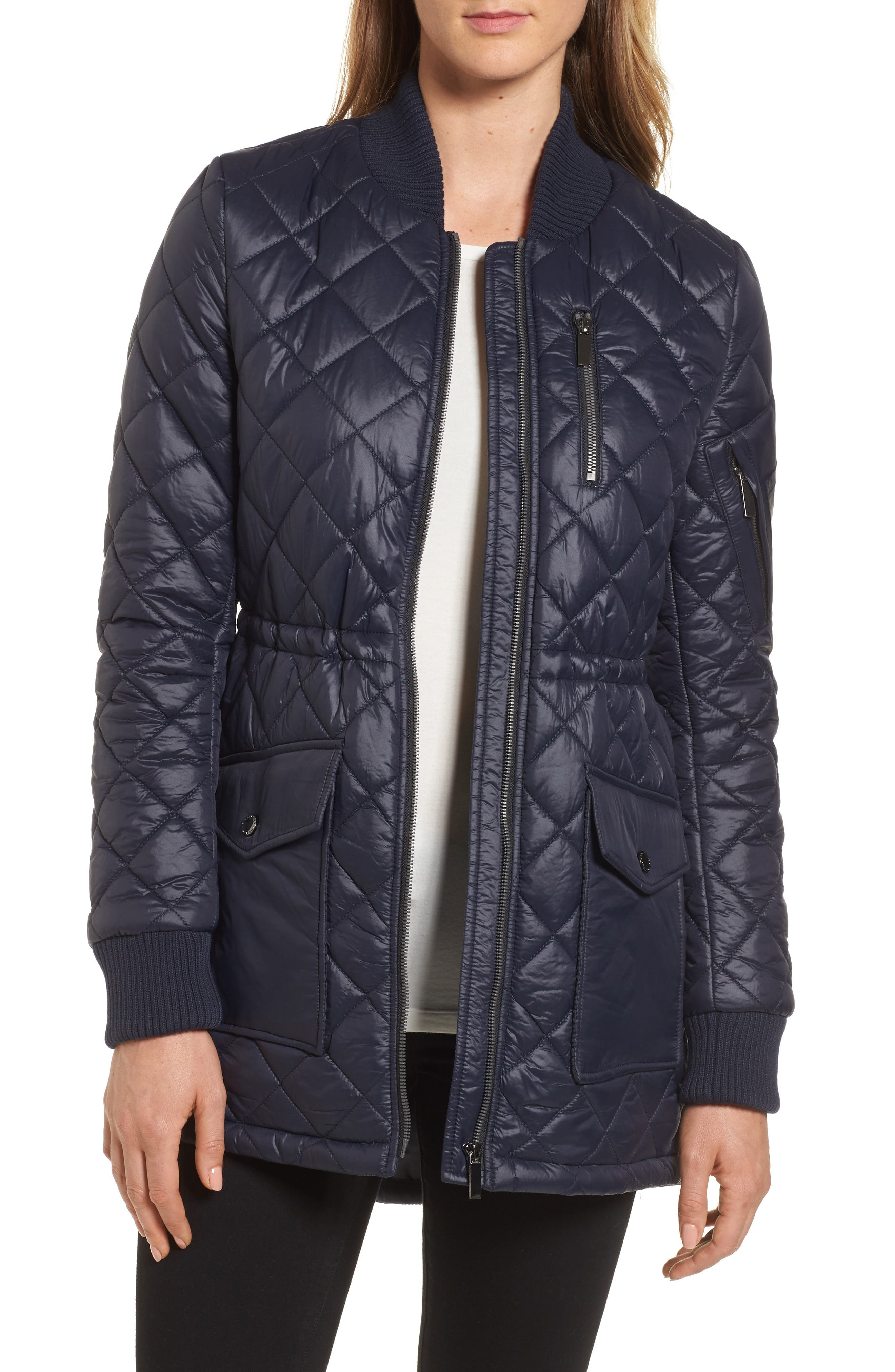 Alternate Image 1 Selected - French Connection Quilted Anorak Jacket