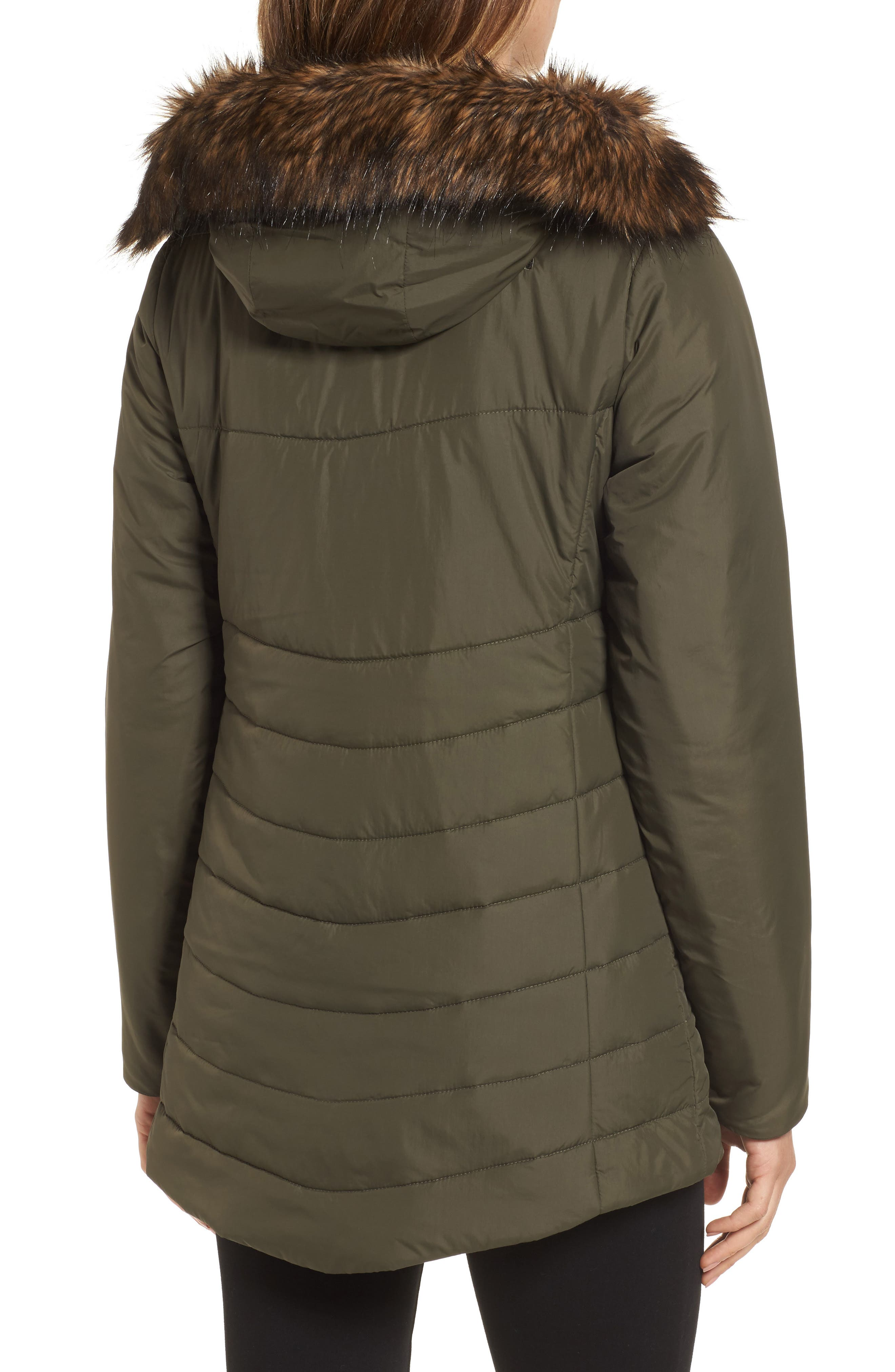 Harway Heatseeker<sup>™</sup> Water-Resistant Jacket with Faux Fur Trim,                             Alternate thumbnail 2, color,                             New Taupe Green