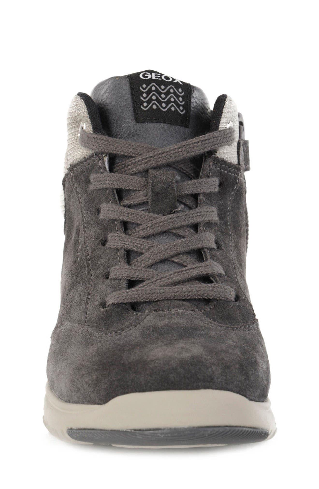 Xunday Mid Top Sneaker,                             Alternate thumbnail 4, color,                             Grey/ Light Grey