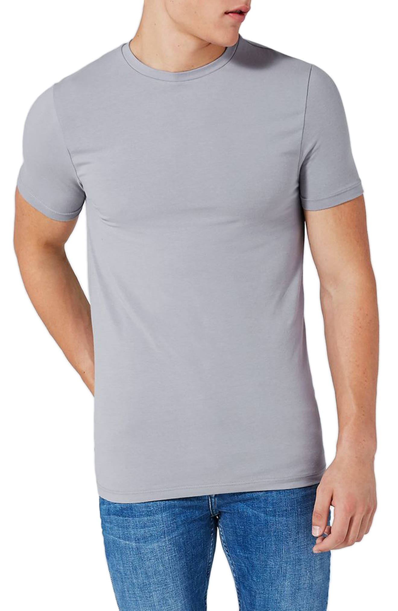 Ultra Muscle Fit T-Shirt,                         Main,                         color, Grey