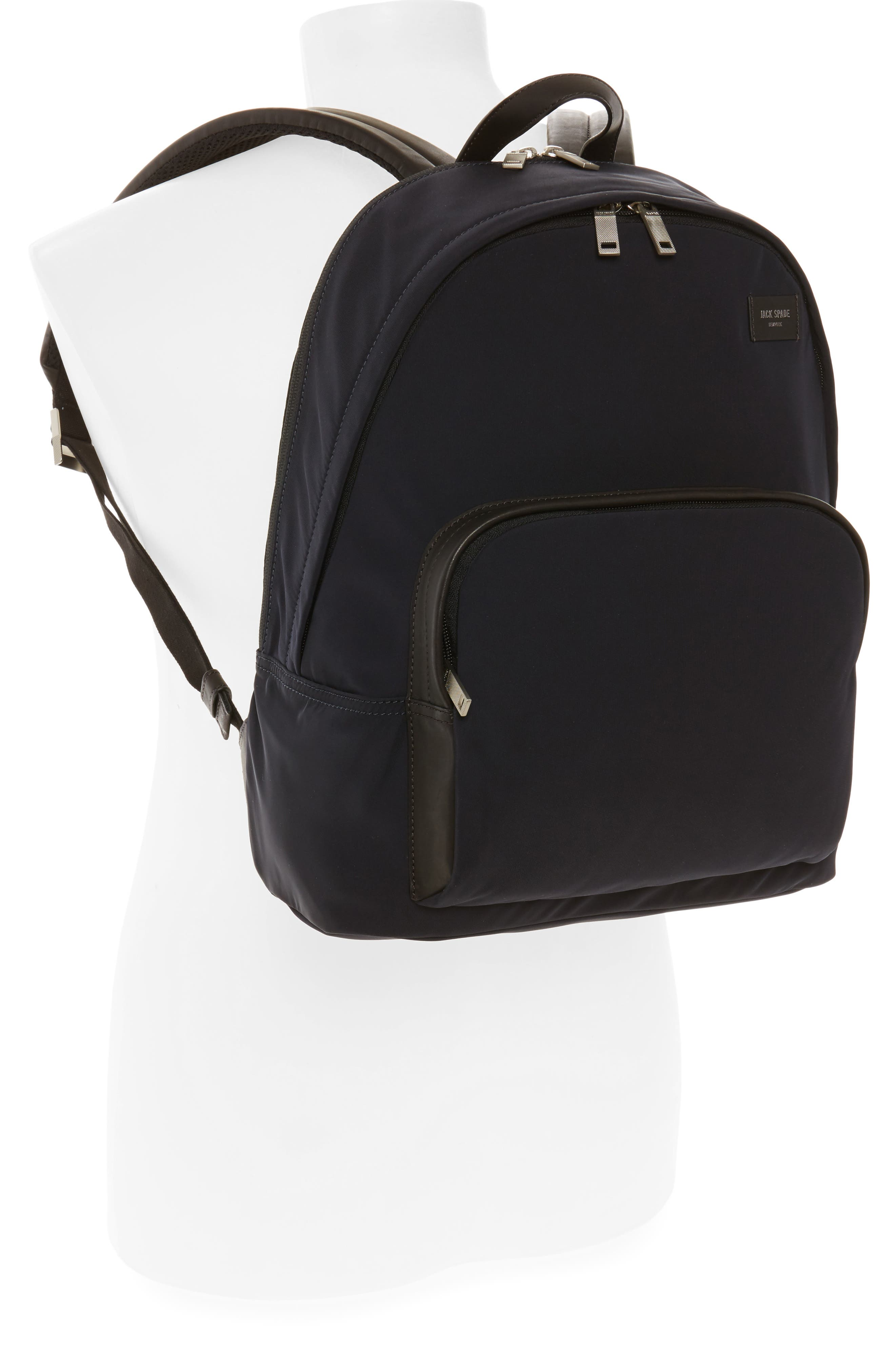 Twill Backpack,                             Alternate thumbnail 2, color,                             Navy